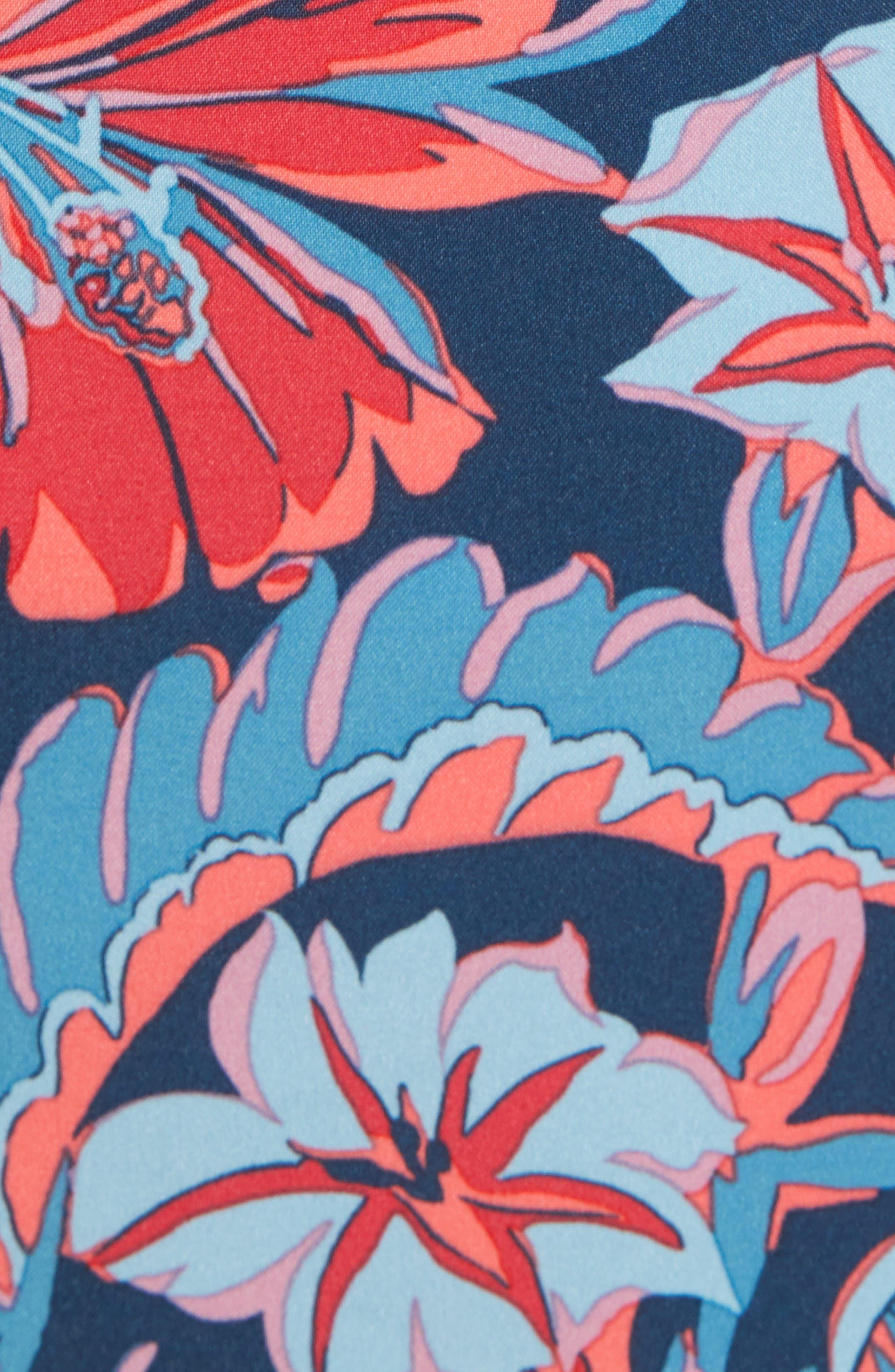 Banzai 9-Inch Swim Trunks,                             Alternate thumbnail 5, color,                             Pavillion Floral Print