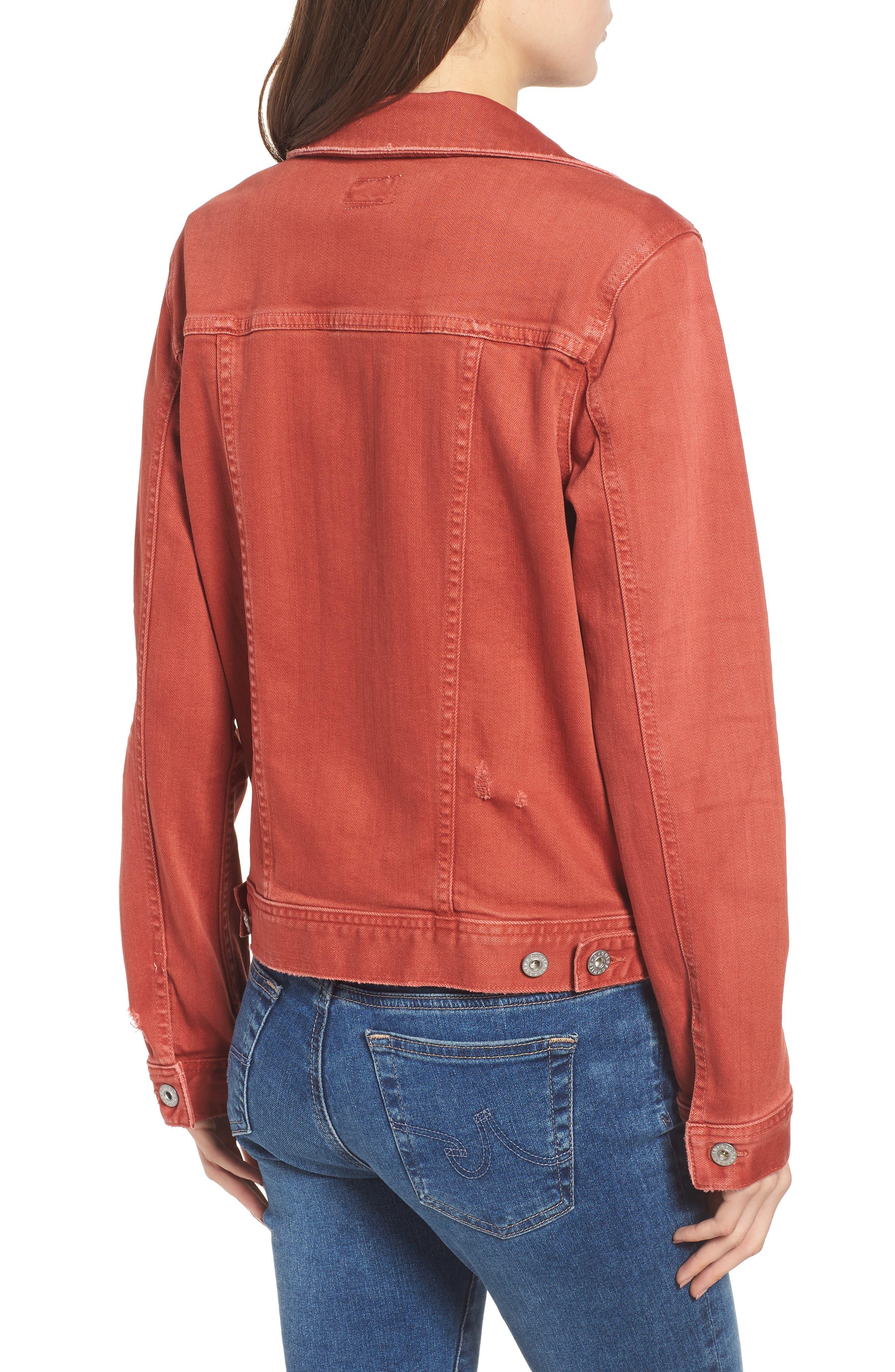 Mya Denim Jacket,                             Alternate thumbnail 2, color,                             10 Years Remedy Firebrick
