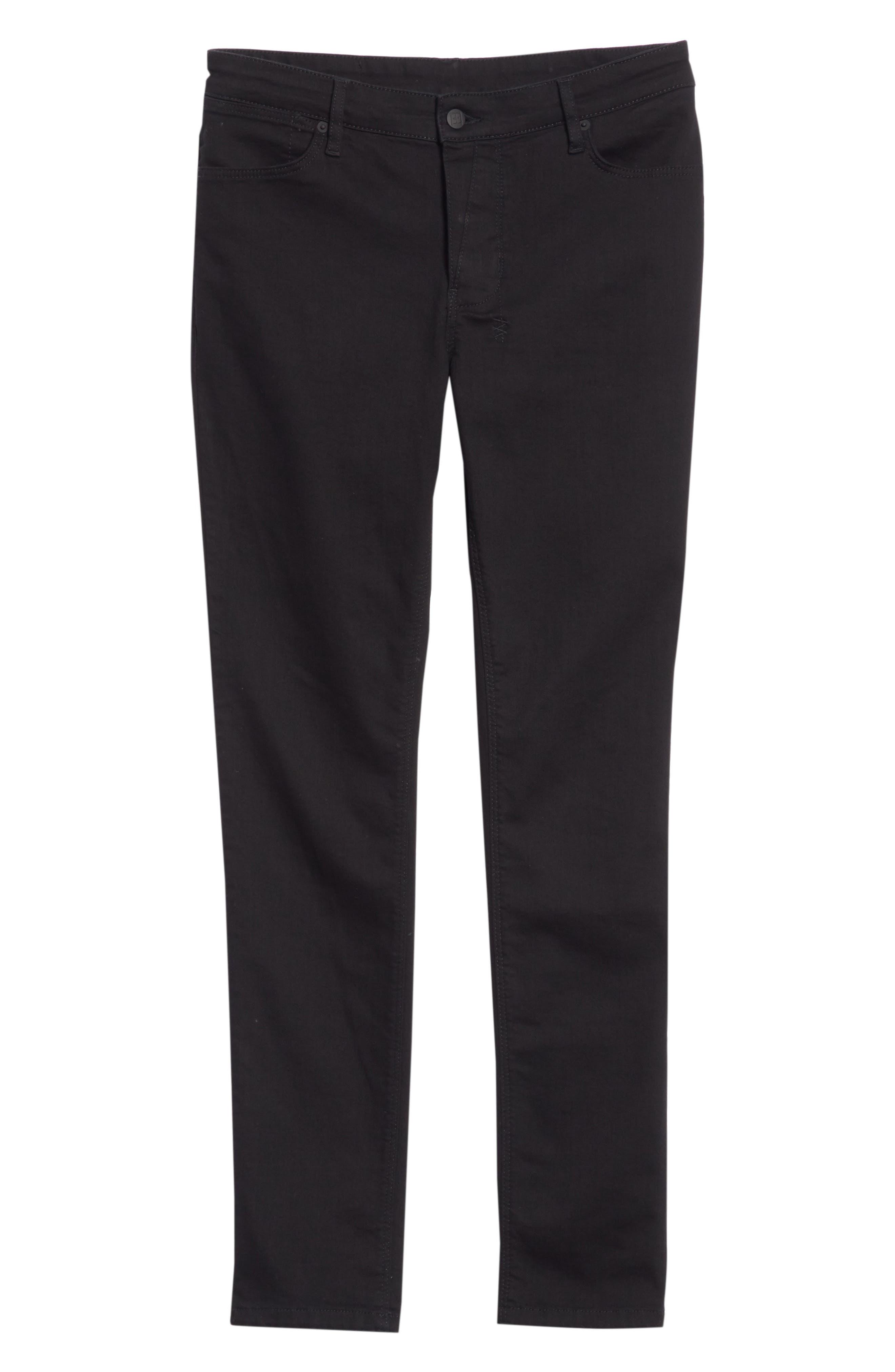Van Winkle Black Rebel Skinny Fit Jeans,                             Alternate thumbnail 6, color,                             Black