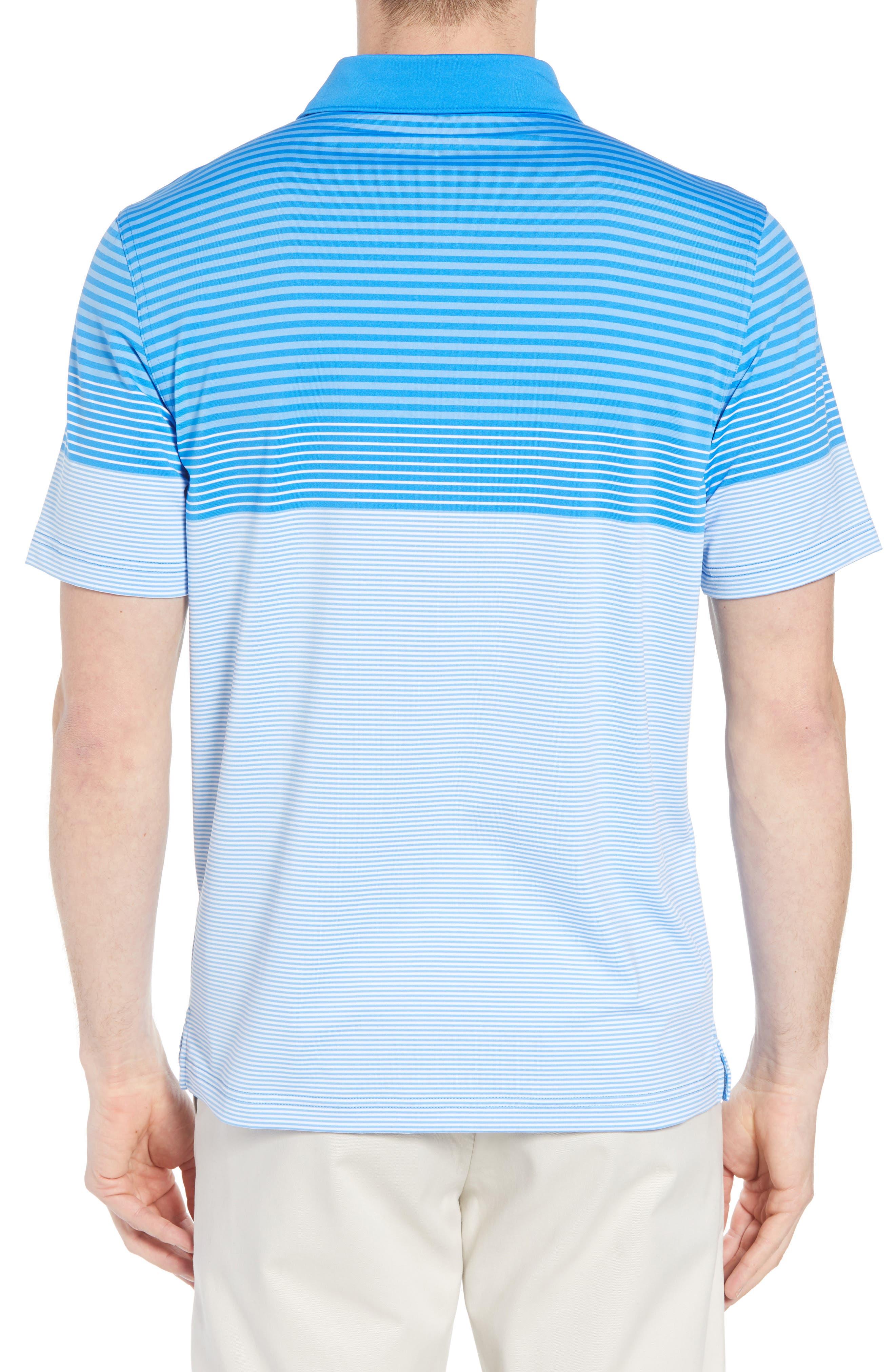 Regular Fit Engineer Stripe Sankaty Performance Polo,                             Alternate thumbnail 2, color,                             Azure Blue