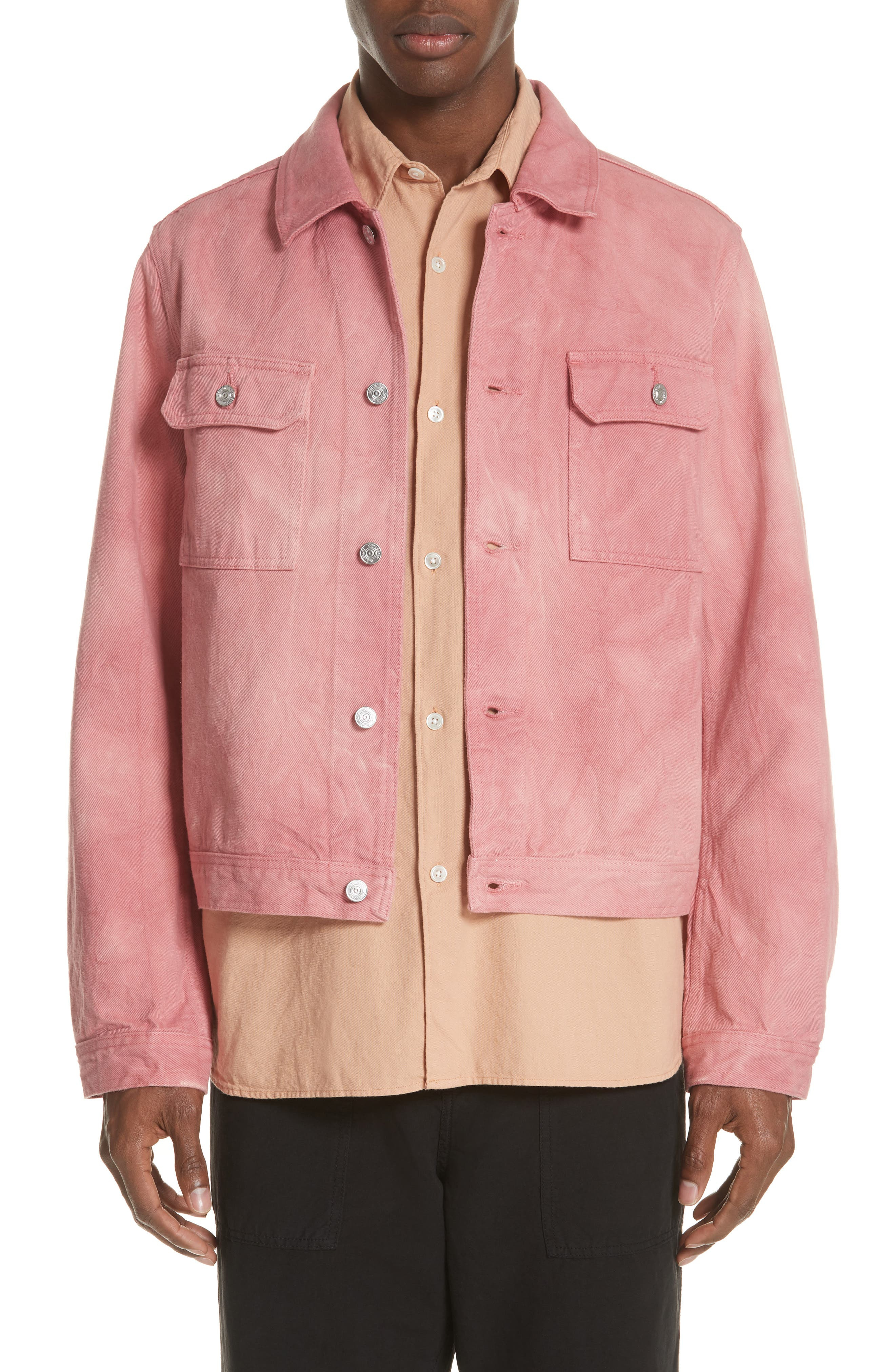 Dye Jacket,                         Main,                         color, Pink