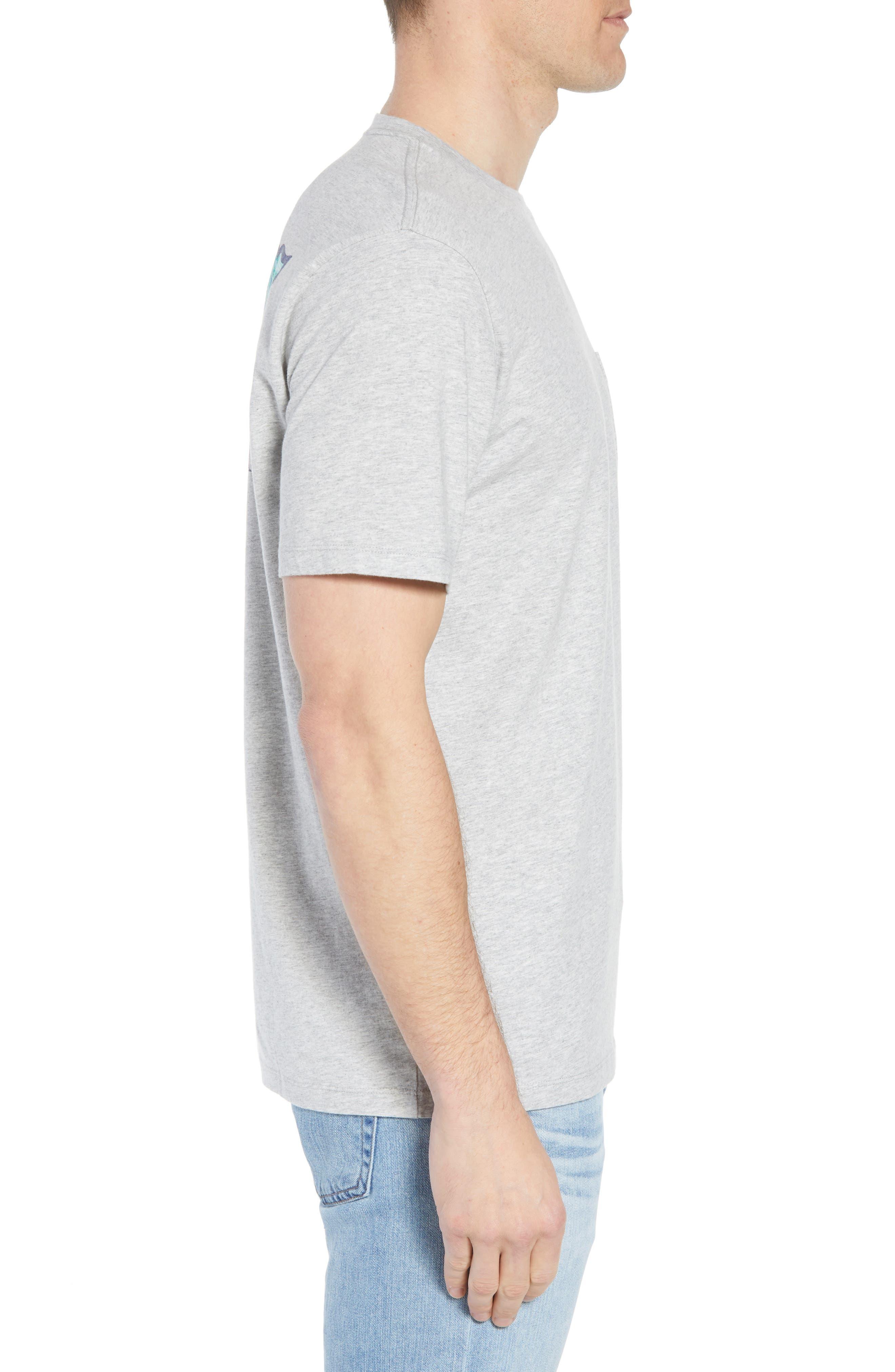 School of Tuna Regular Fit Pocket T-Shirt,                             Alternate thumbnail 3, color,                             Gray Heather