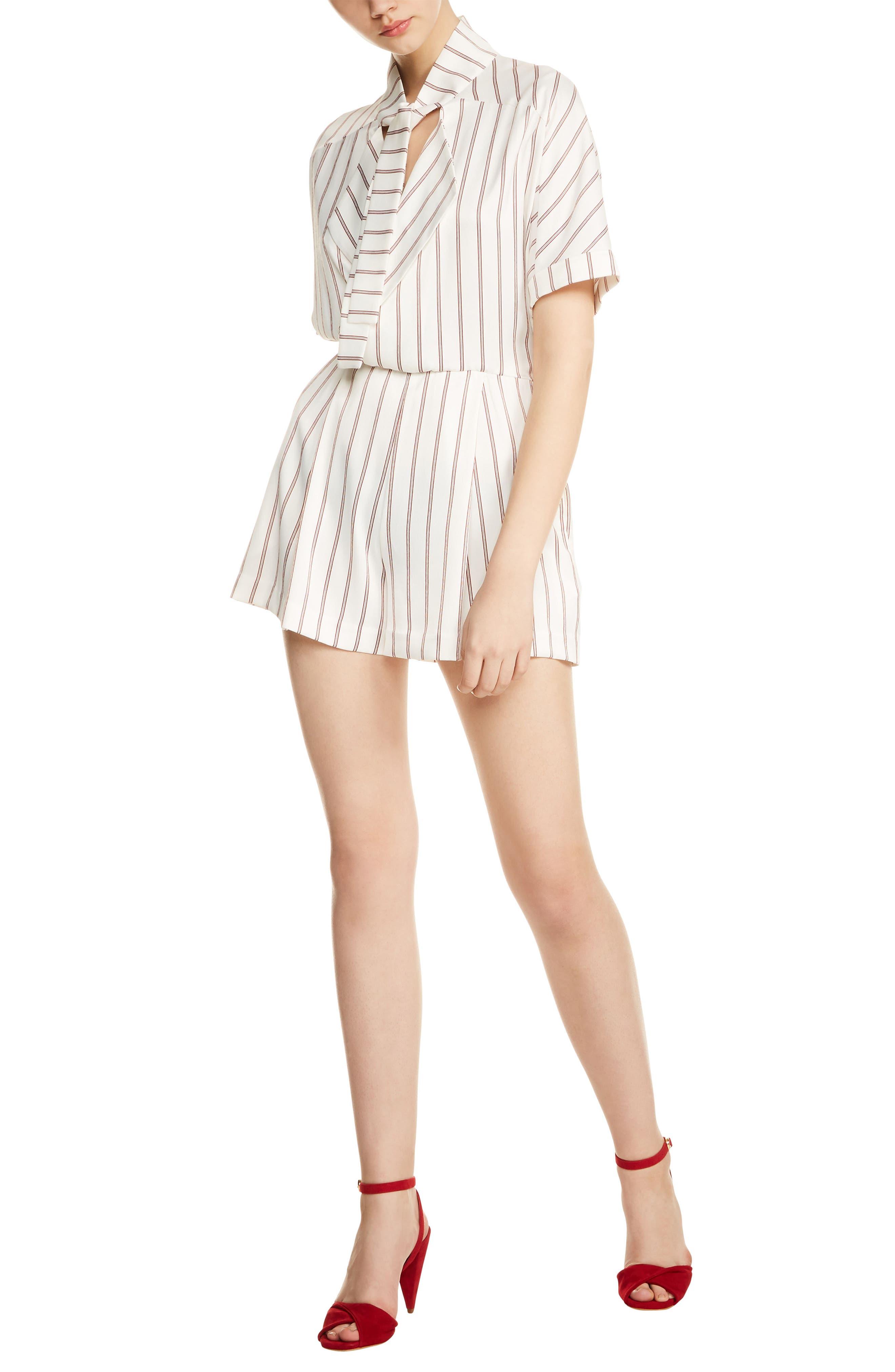 Alternate Image 1 Selected - maje Imaly Stripe Romper