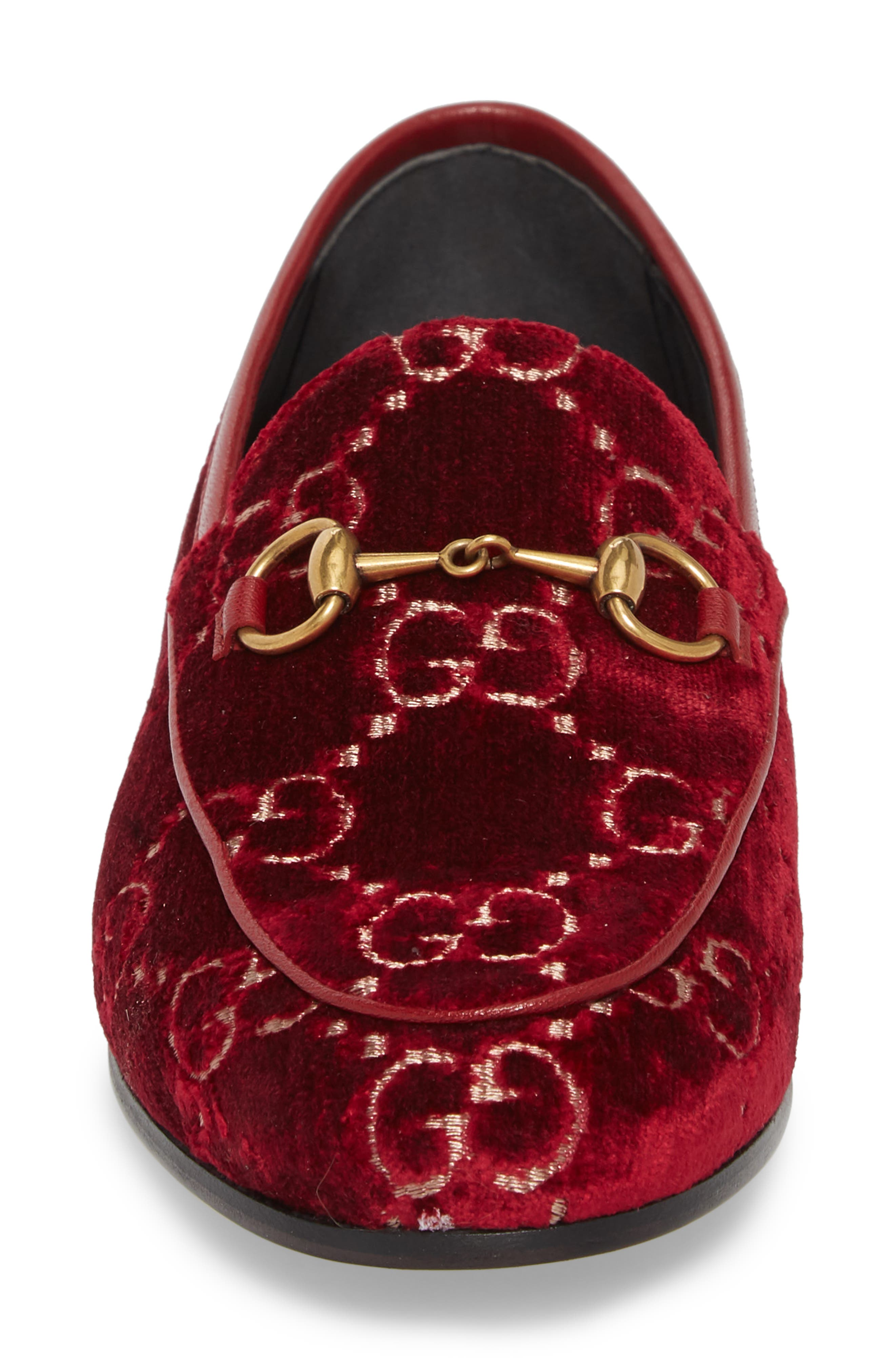 Jordaan Loafer,                             Alternate thumbnail 4, color,                             Red