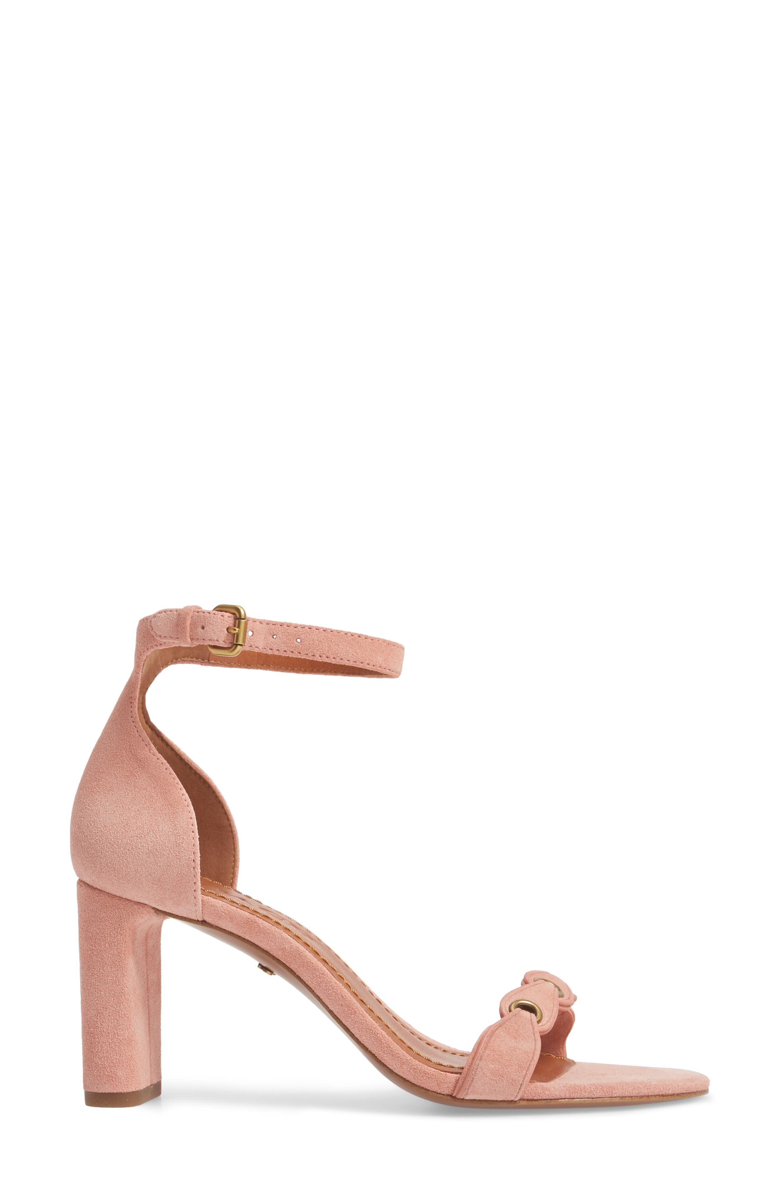 Link Strap Sandal,                             Alternate thumbnail 4, color,                             Peony Leather