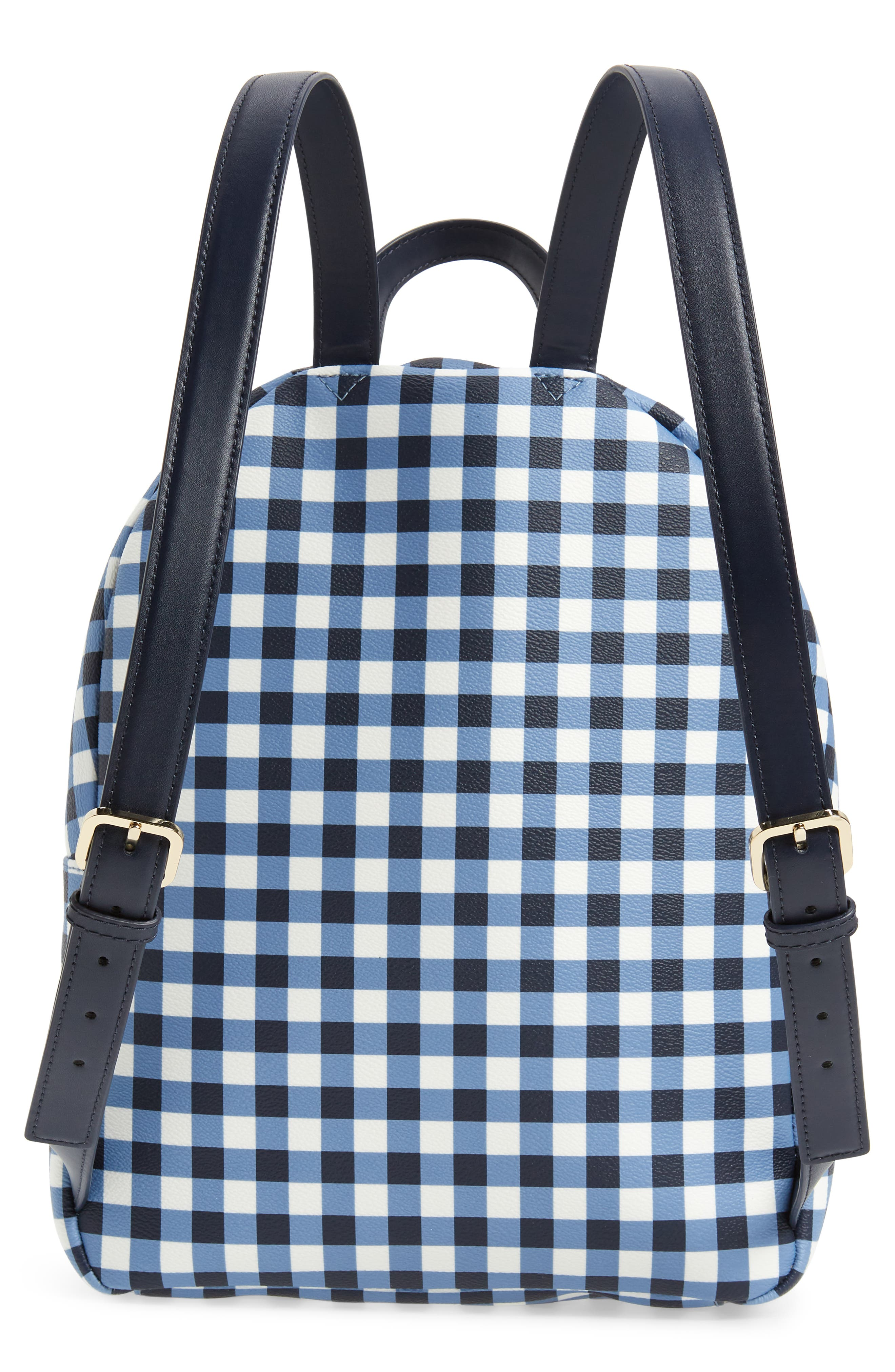 hyde lane hartley gingham backpack,                             Alternate thumbnail 3, color,                             Navy/ White