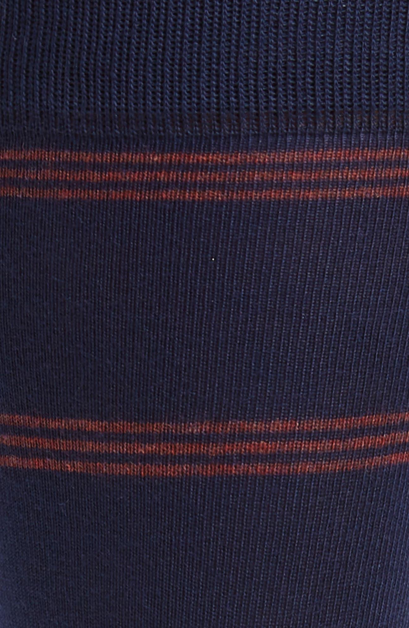 Triple Line Socks,                             Alternate thumbnail 2, color,                             Navy/ Red