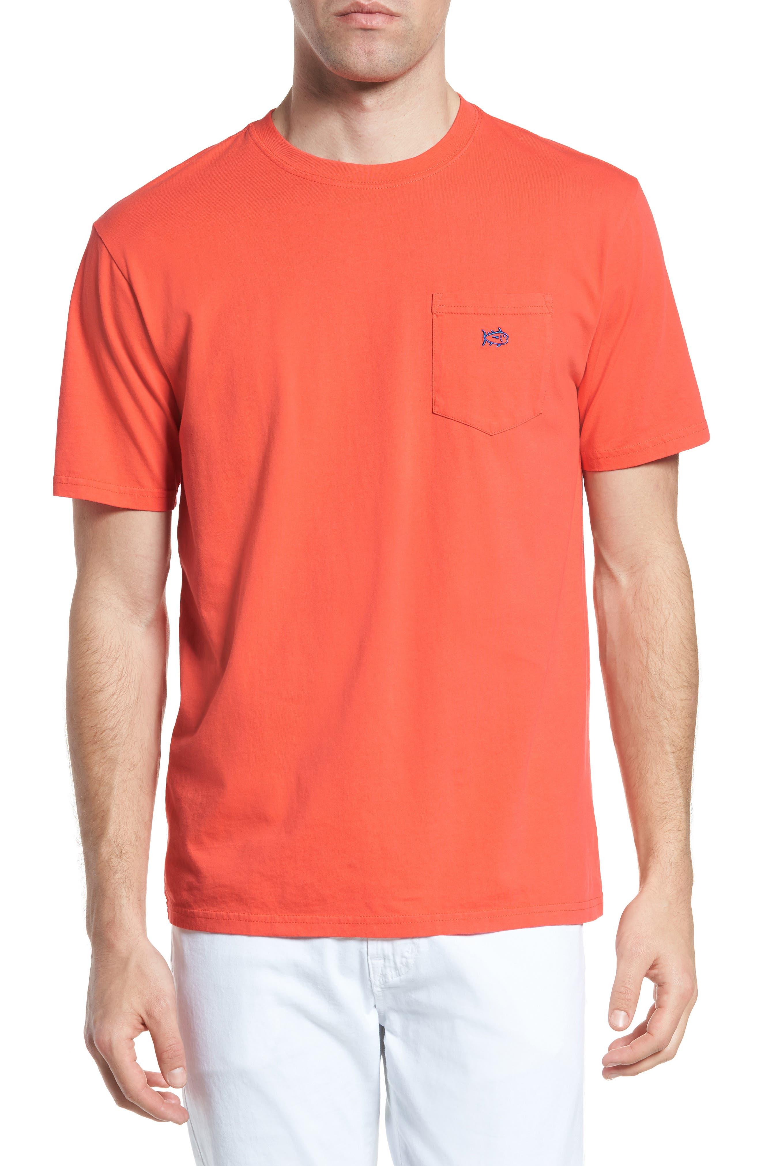 Skipjack Logo Regular Fit T-Shirt,                             Main thumbnail 1, color,                             Hot Coral