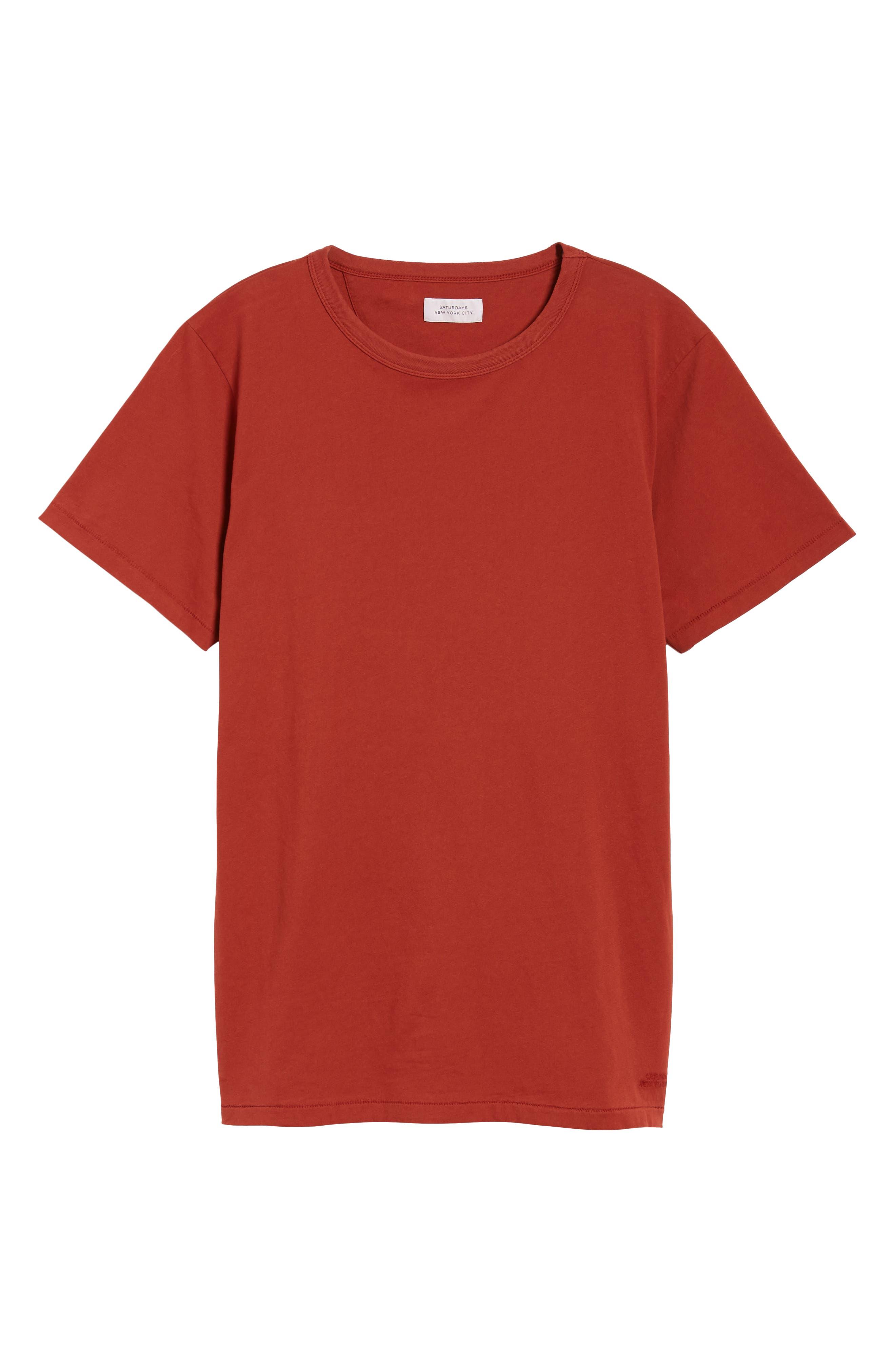 Brandon Pima T-Shirt,                             Alternate thumbnail 6, color,                             Brick