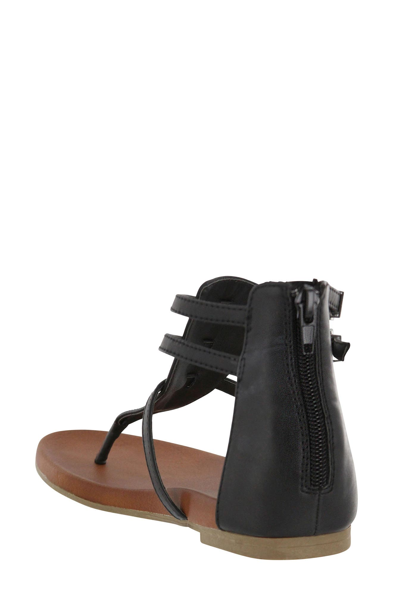 Dashiell V-Strap Sandal,                             Alternate thumbnail 2, color,                             Black