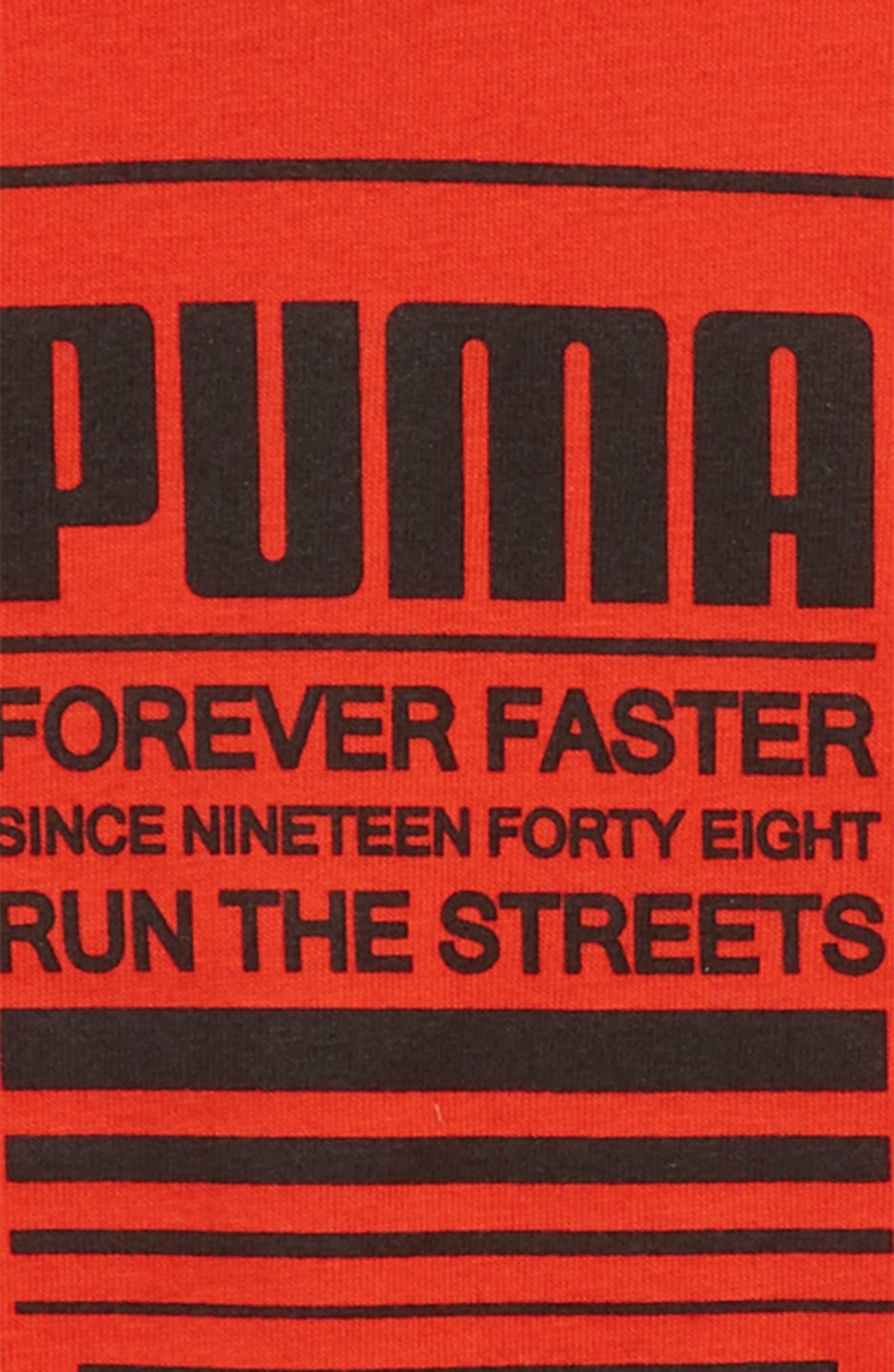 Forever Faster Screenprint T-Shirt,                             Alternate thumbnail 2, color,                             Flame Scarlet