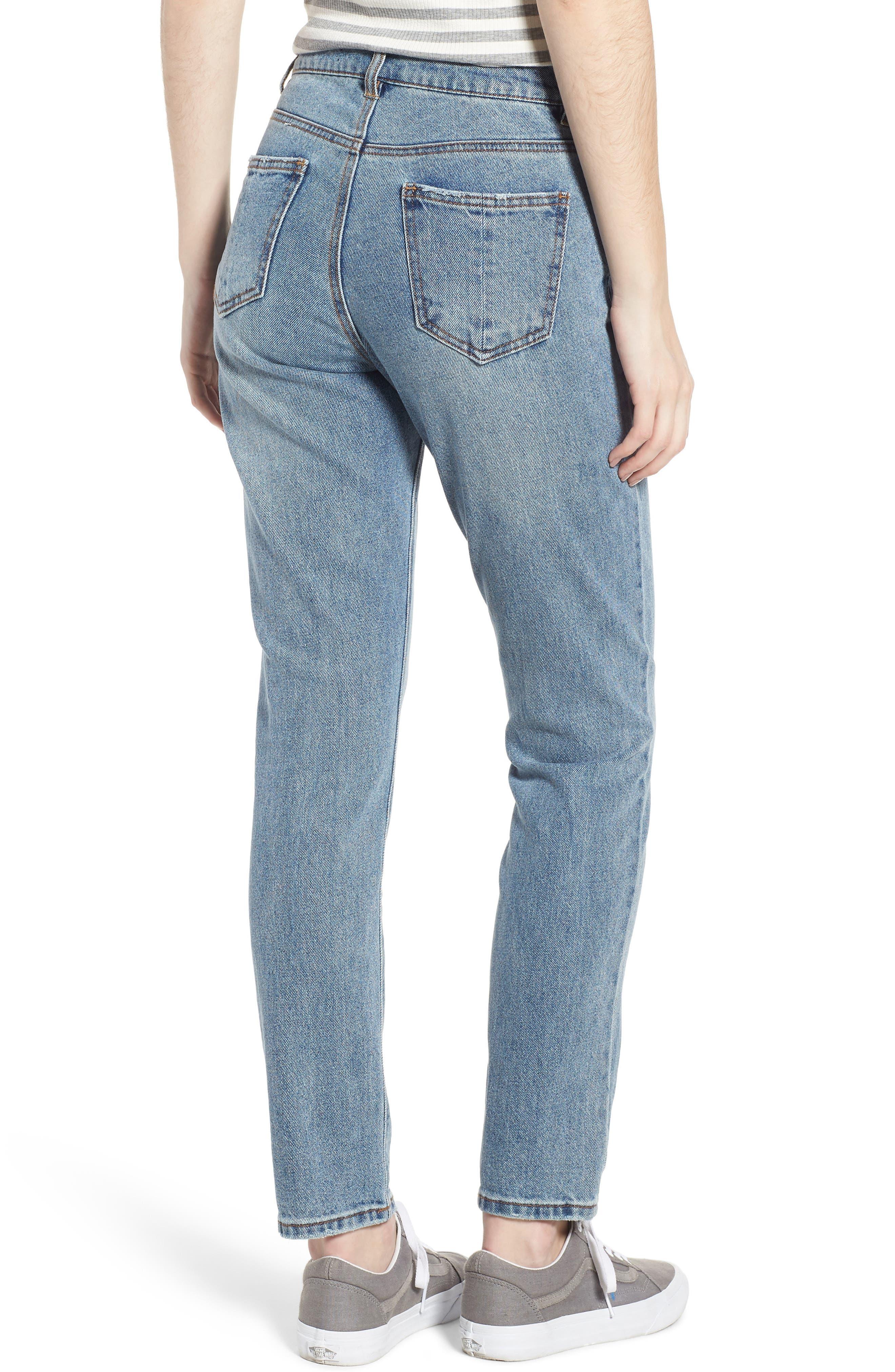 High Waist Skinny Jeans,                             Alternate thumbnail 2, color,                             Medium
