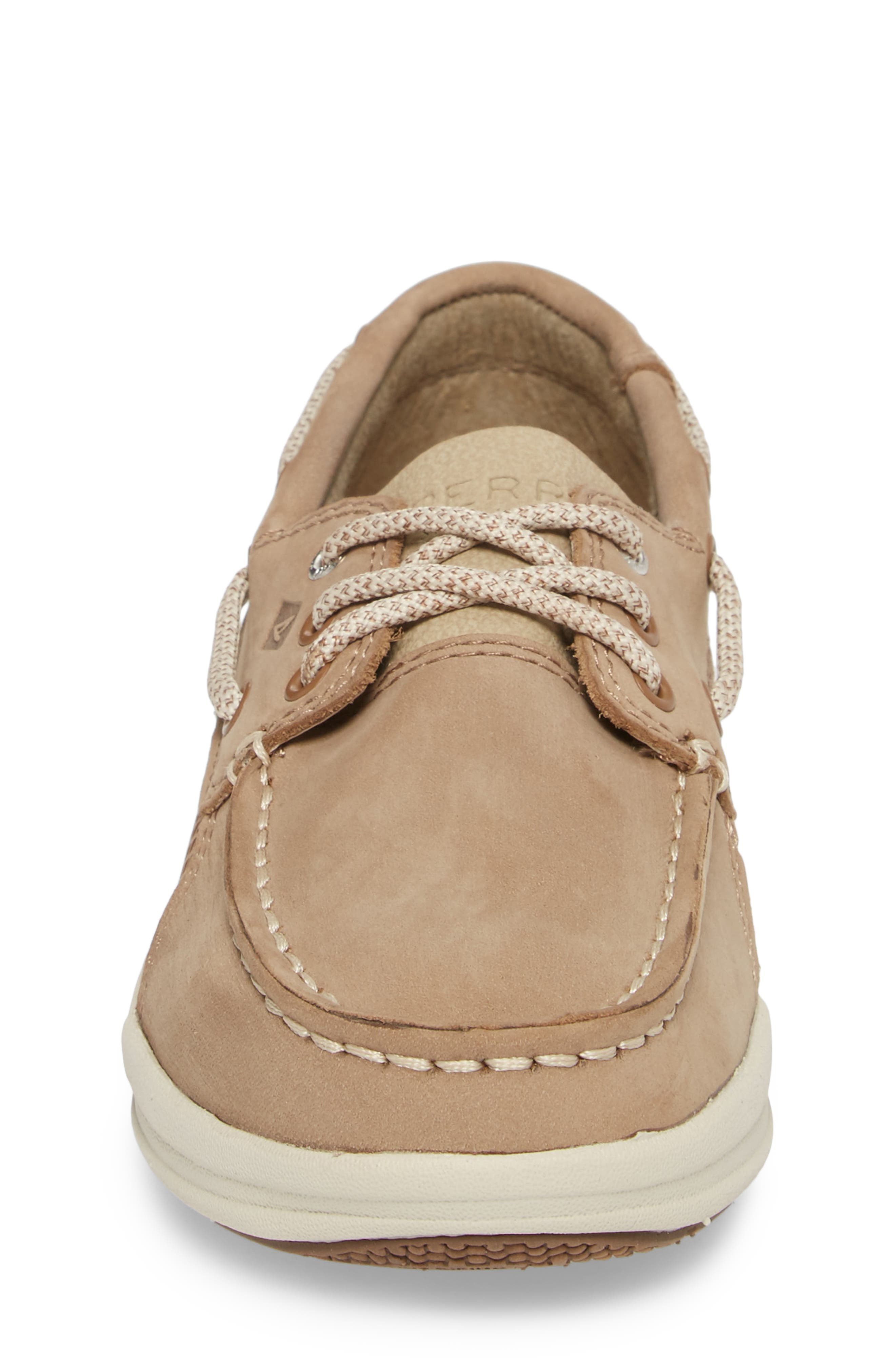Sperry Gamefish Boat Shoe,                             Alternate thumbnail 4, color,                             Light Tan Leather