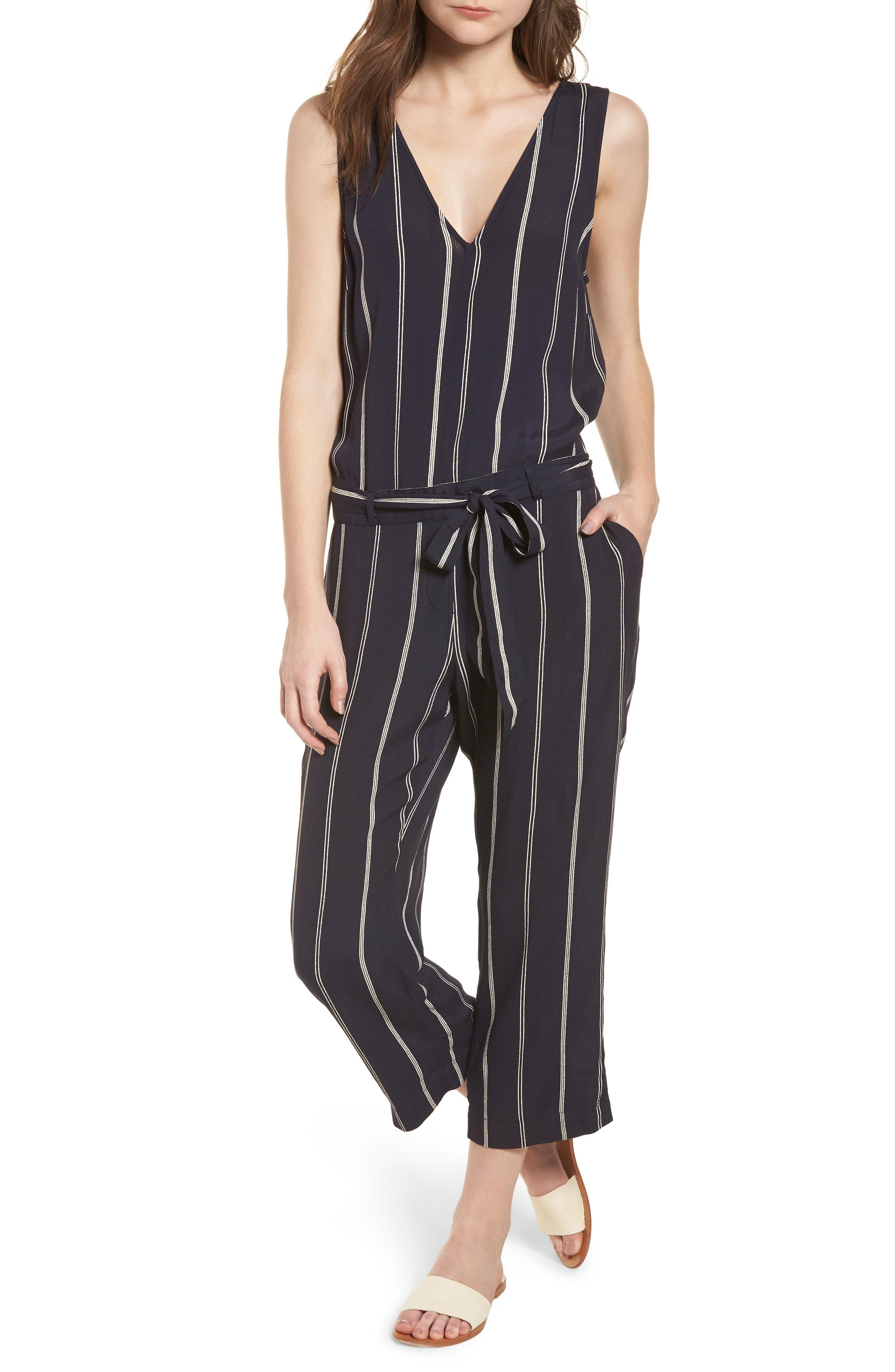 Hallie Jumpsuit,                         Main,                         color, Granada Stripe
