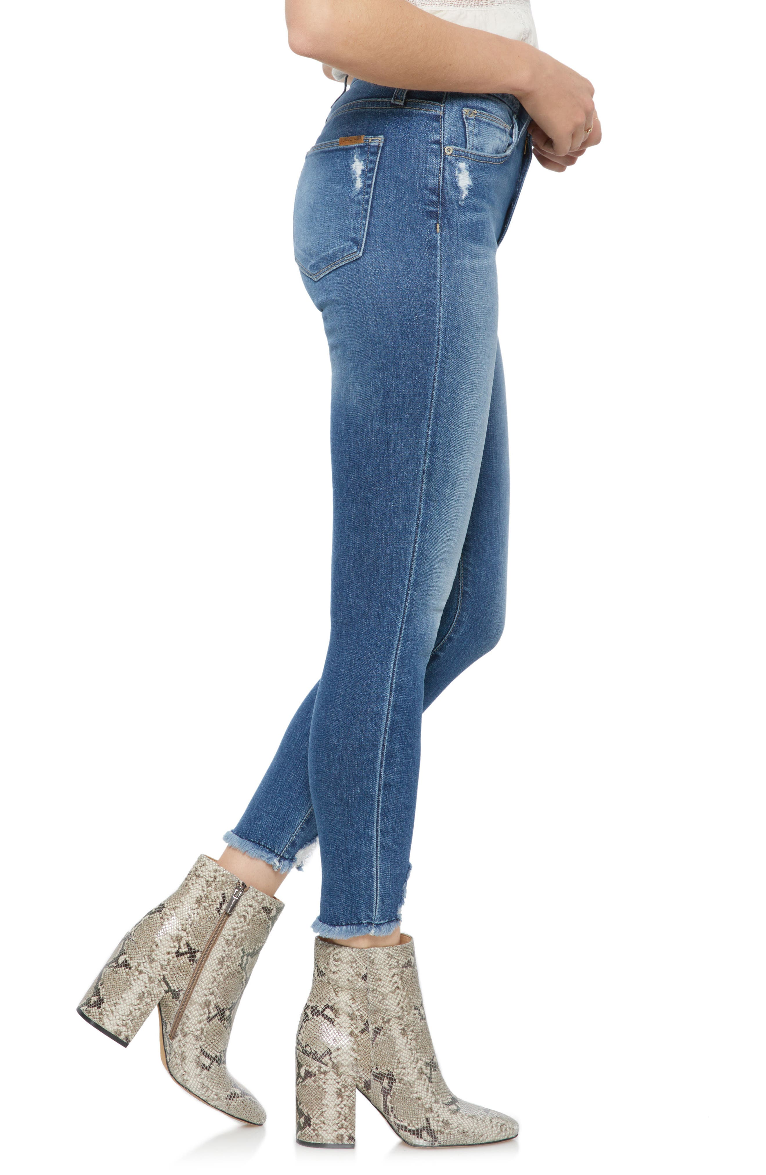 Hi Rise Honey Curvy Skinny Crop Jeans,                             Alternate thumbnail 3, color,                             Quinley
