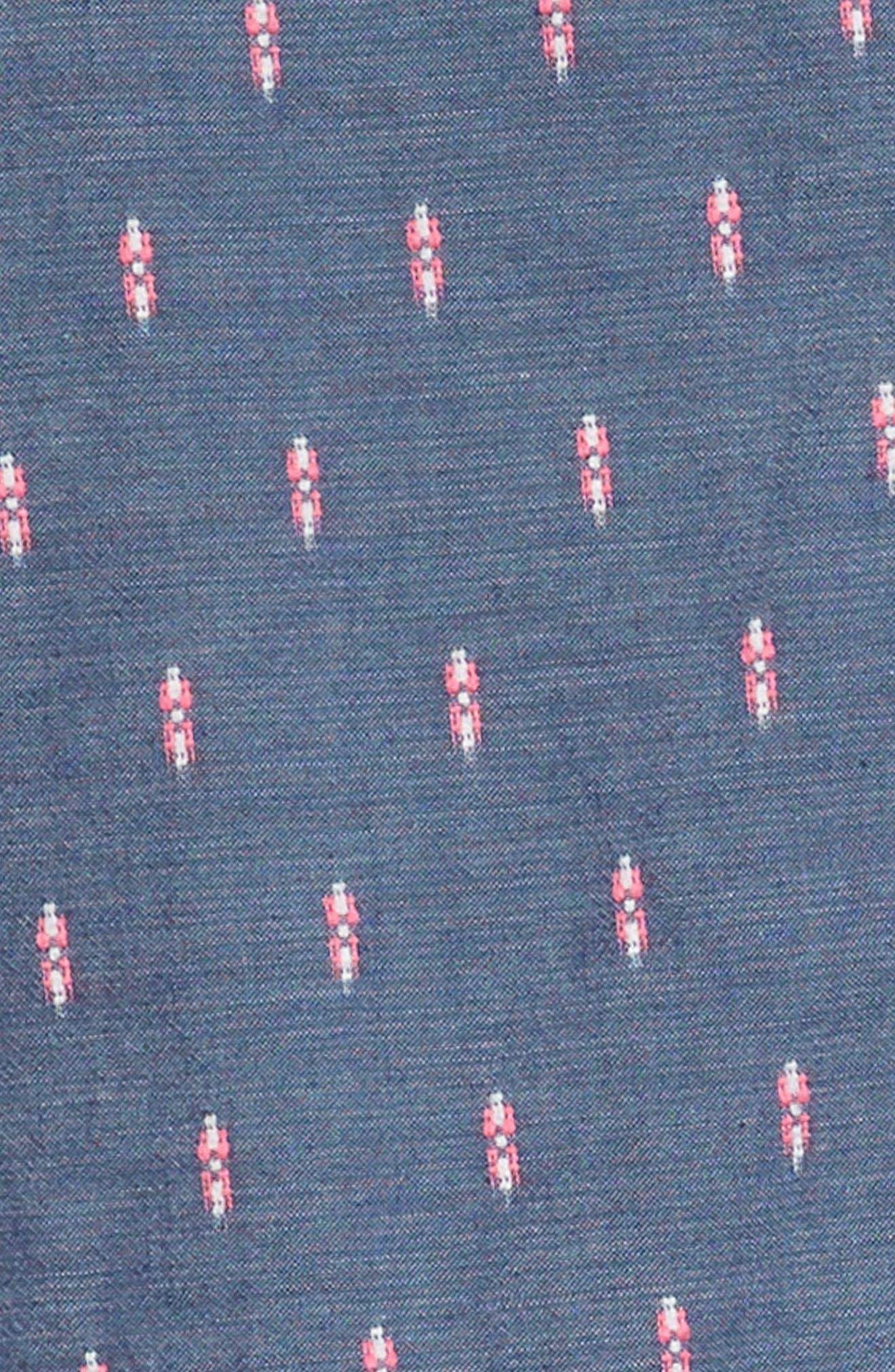 Sleeveless Shirtdress,                             Alternate thumbnail 3, color,                             Blue Chinoise