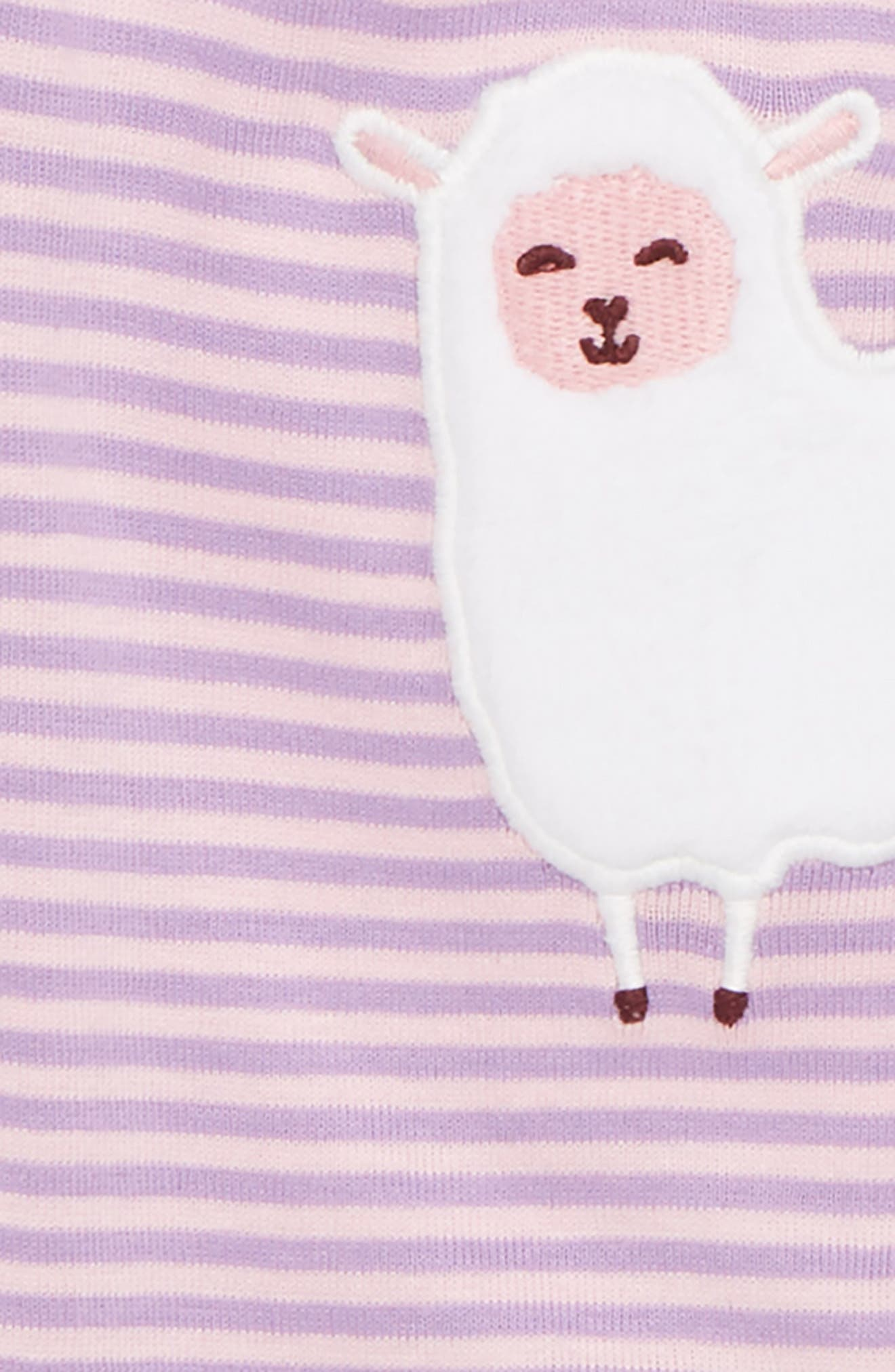 Counting Sheep Fitted Two-Piece Pajamas,                             Alternate thumbnail 2, color,                             Counting Sheep