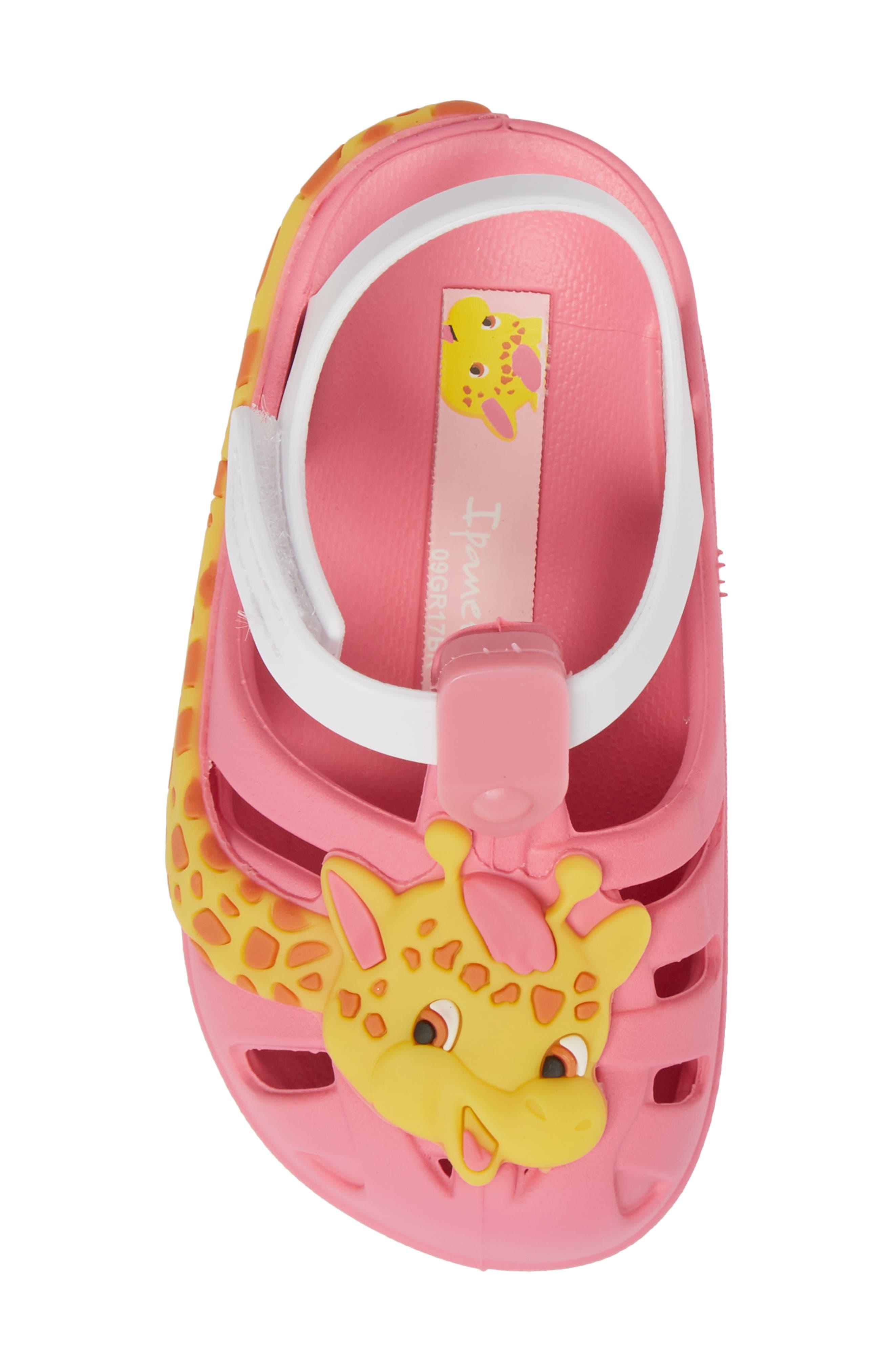 Summer Baby Waterproof Sandal,                             Alternate thumbnail 5, color,                             Pink/ White