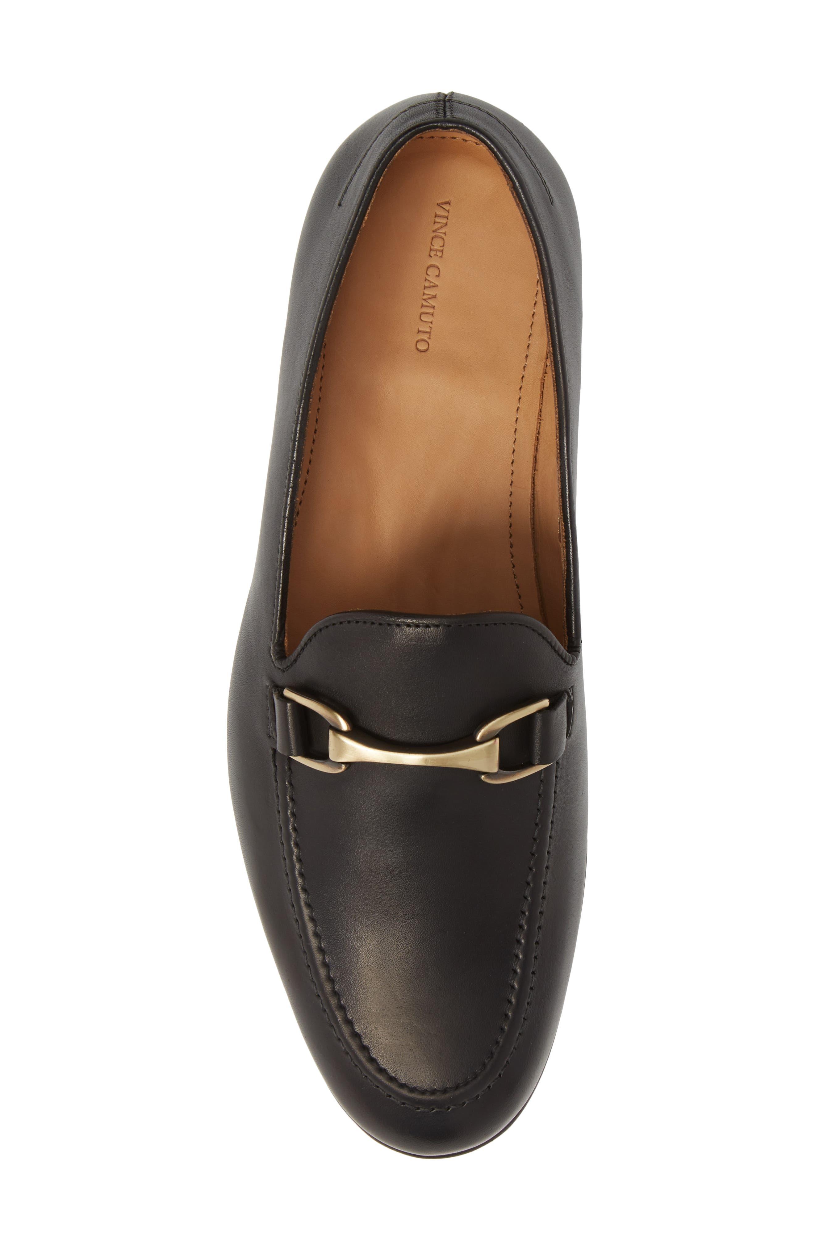 'Borcelo' Bit Loafer,                             Alternate thumbnail 5, color,                             Black Leather