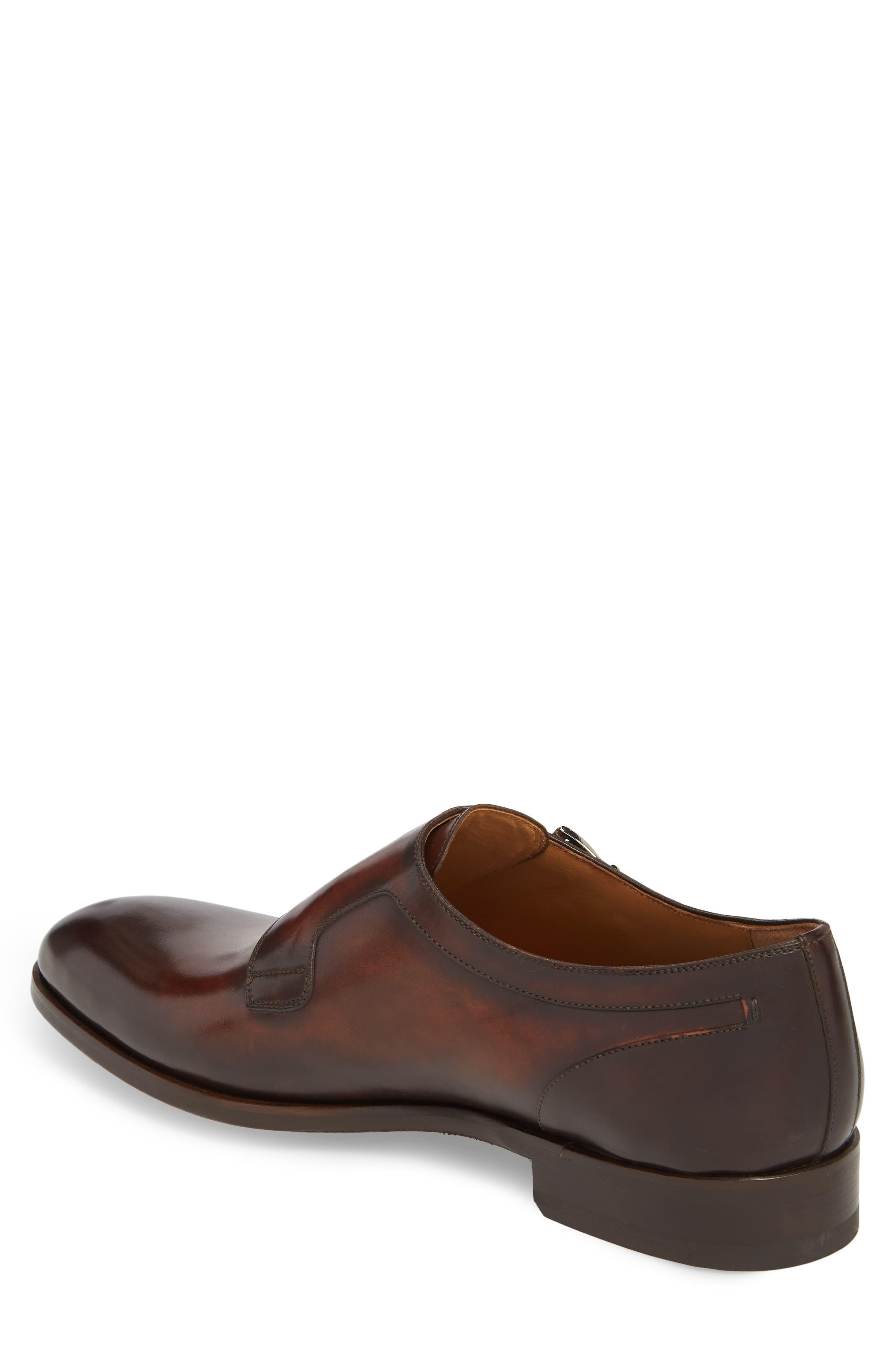 Pratt Double Strap Monk Shoe,                             Alternate thumbnail 2, color,                             Tabaco Leather