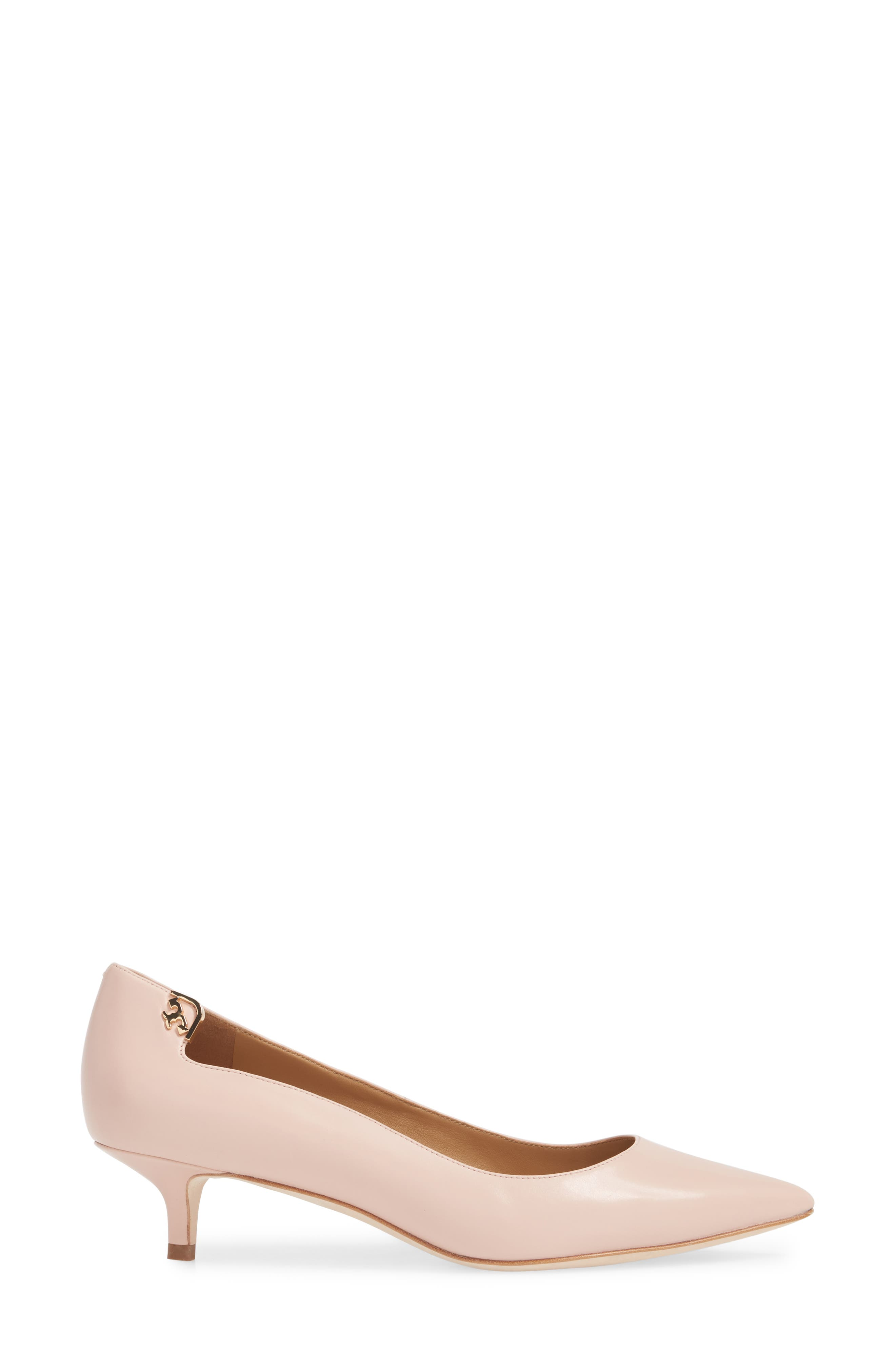 Elizabeth Pointy Toe Pump,                             Alternate thumbnail 3, color,                             Sea Shell Pink