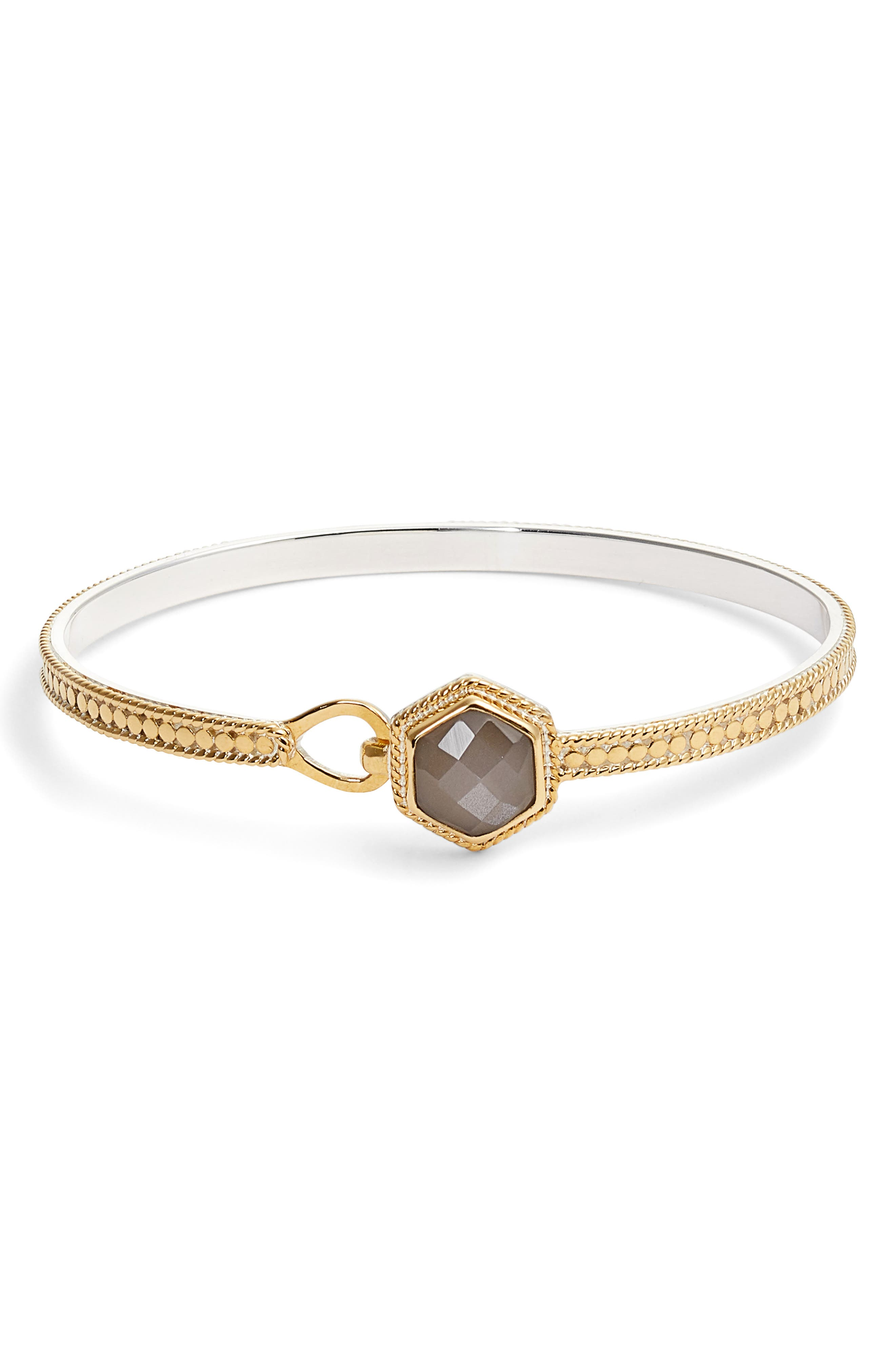 Anna Beck Grey Moonstone Hook Bracelet