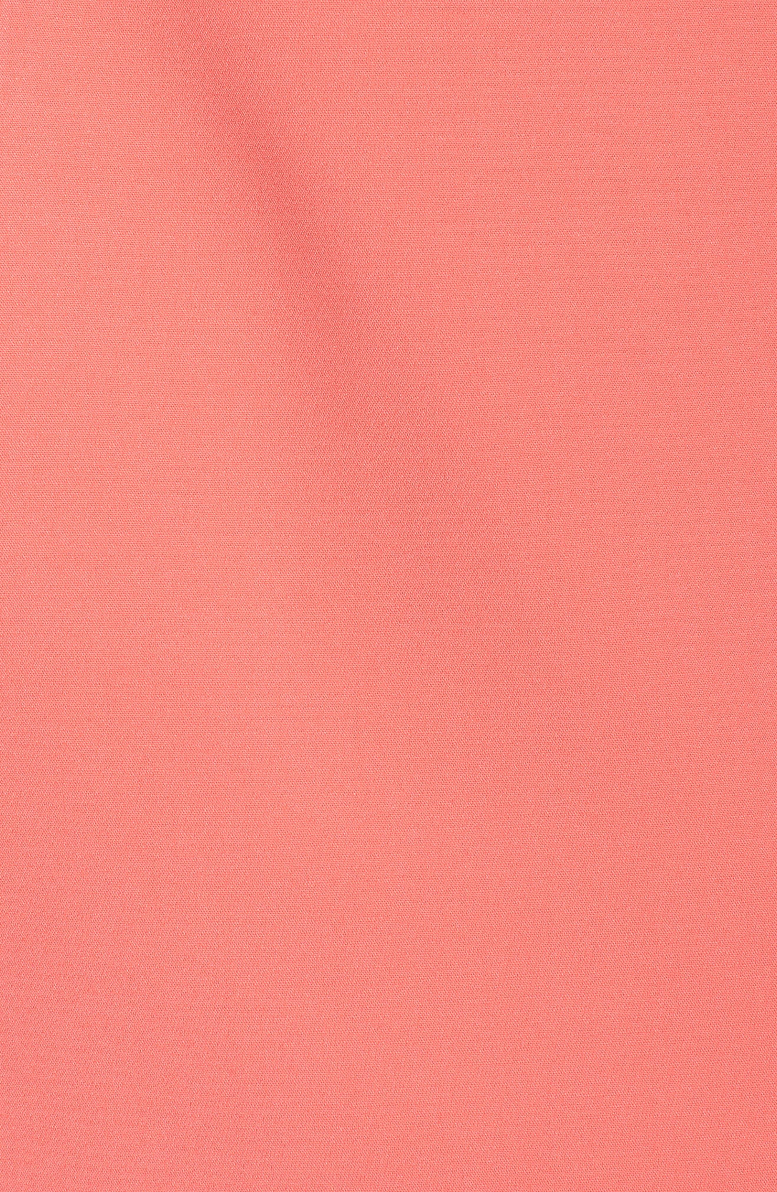 Harper Knotted Strapless Minidress,                             Alternate thumbnail 6, color,                             Coral