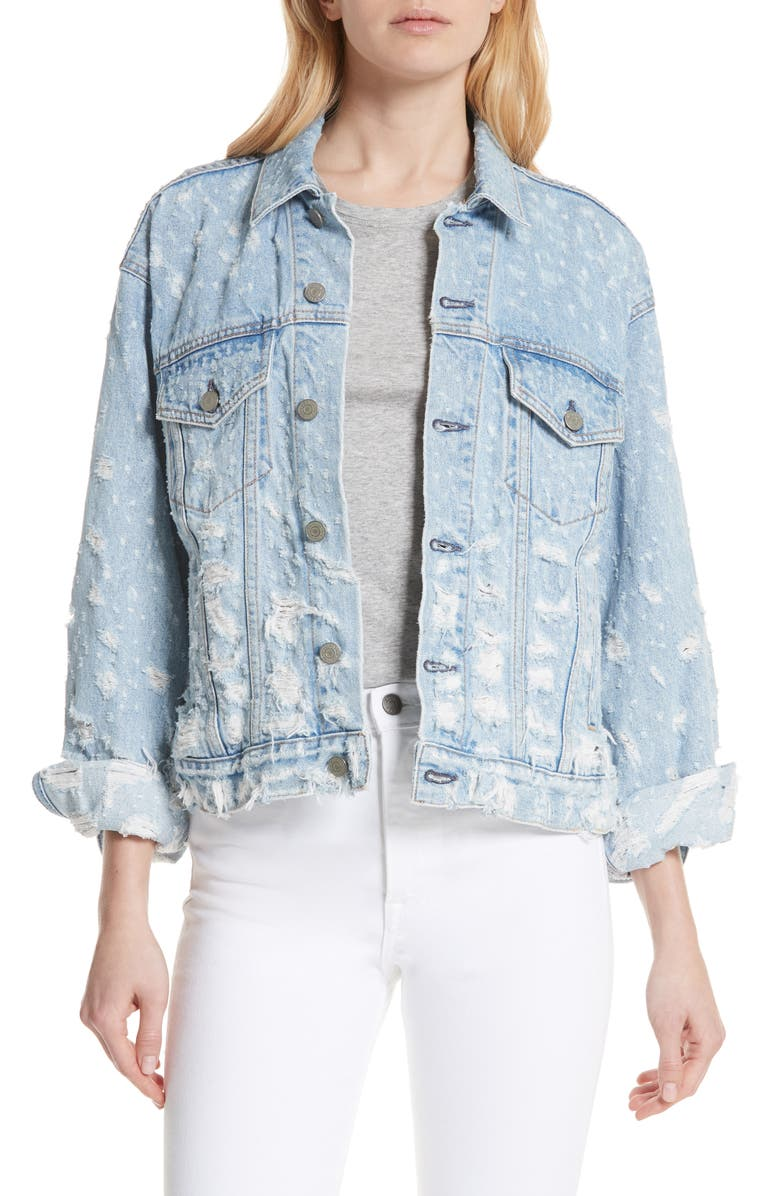 Kim Boyfriend Denim Trucker Jacket