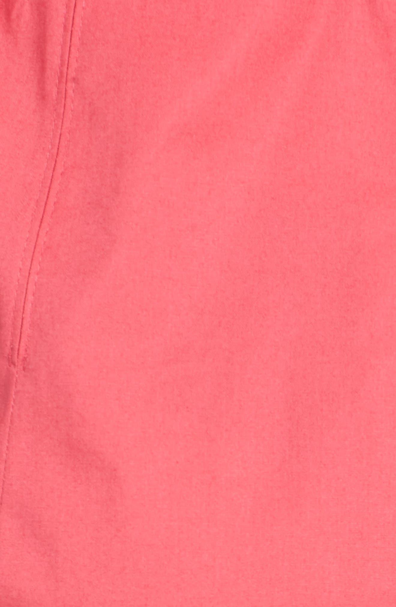 Dashiri Stretch Poplin Dress,                             Alternate thumbnail 6, color,                             Lychee Pink