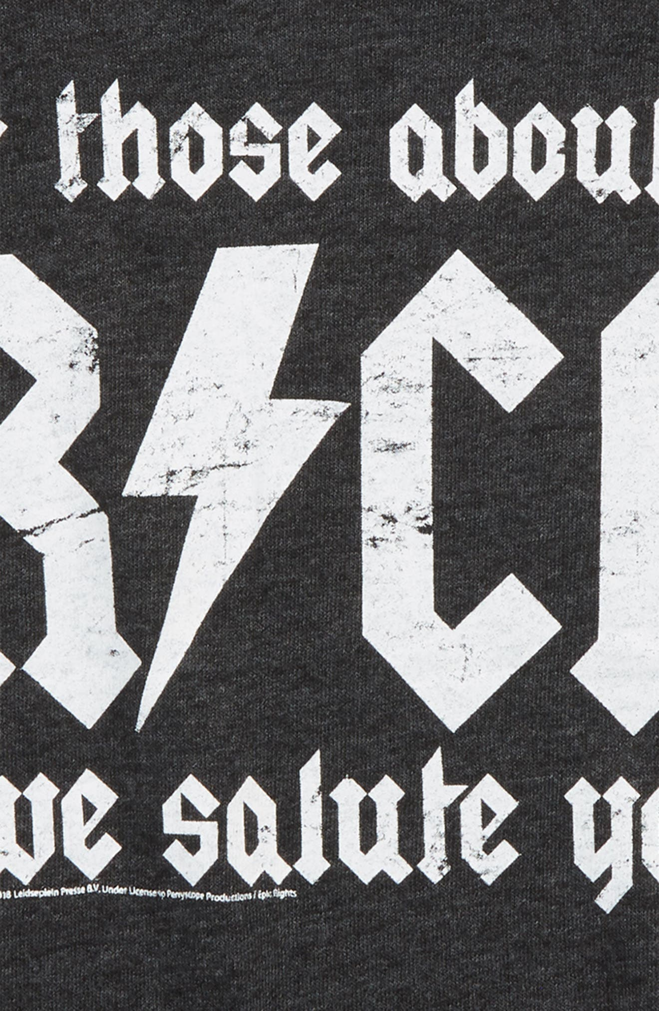 AC/DC For Those about to Rock, We Salute You T-Shirt,                             Alternate thumbnail 2, color,                             Black
