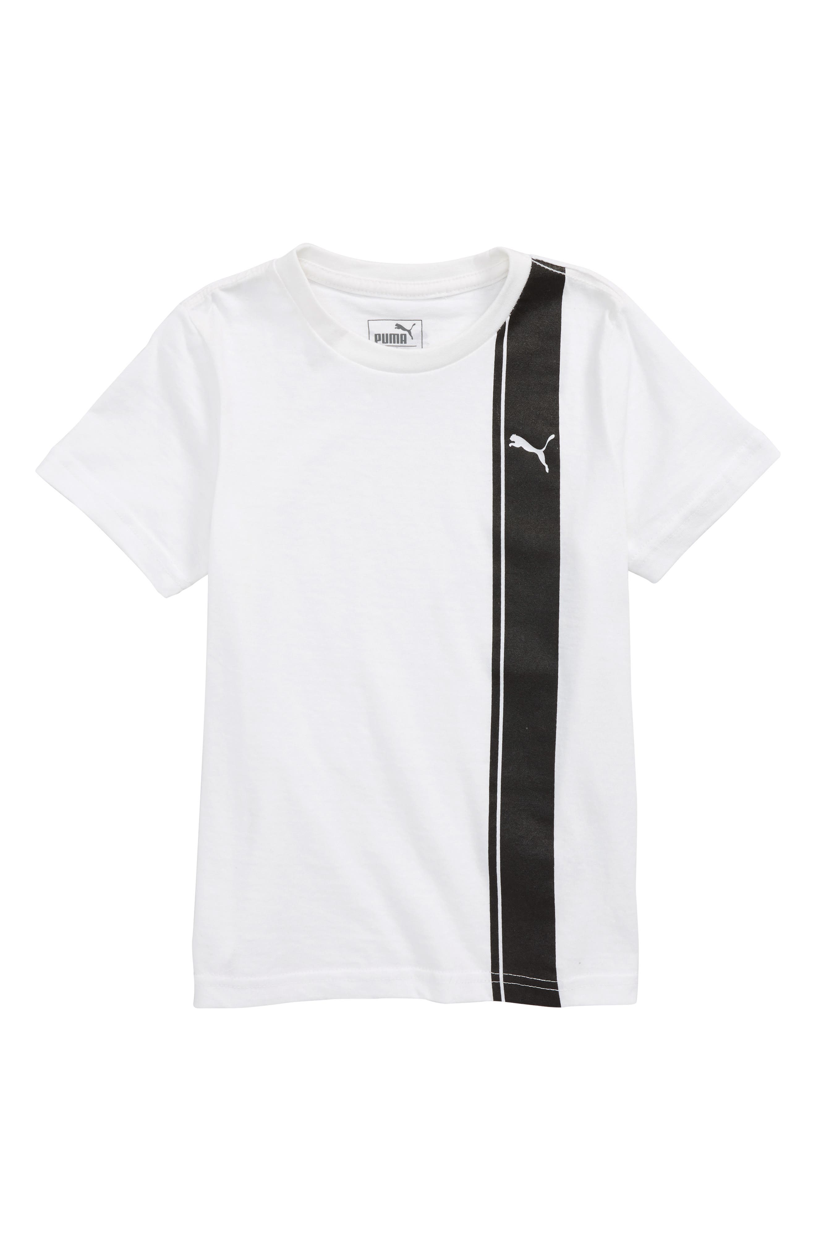 Logo T-Shirt,                             Main thumbnail 1, color,                             Puma White