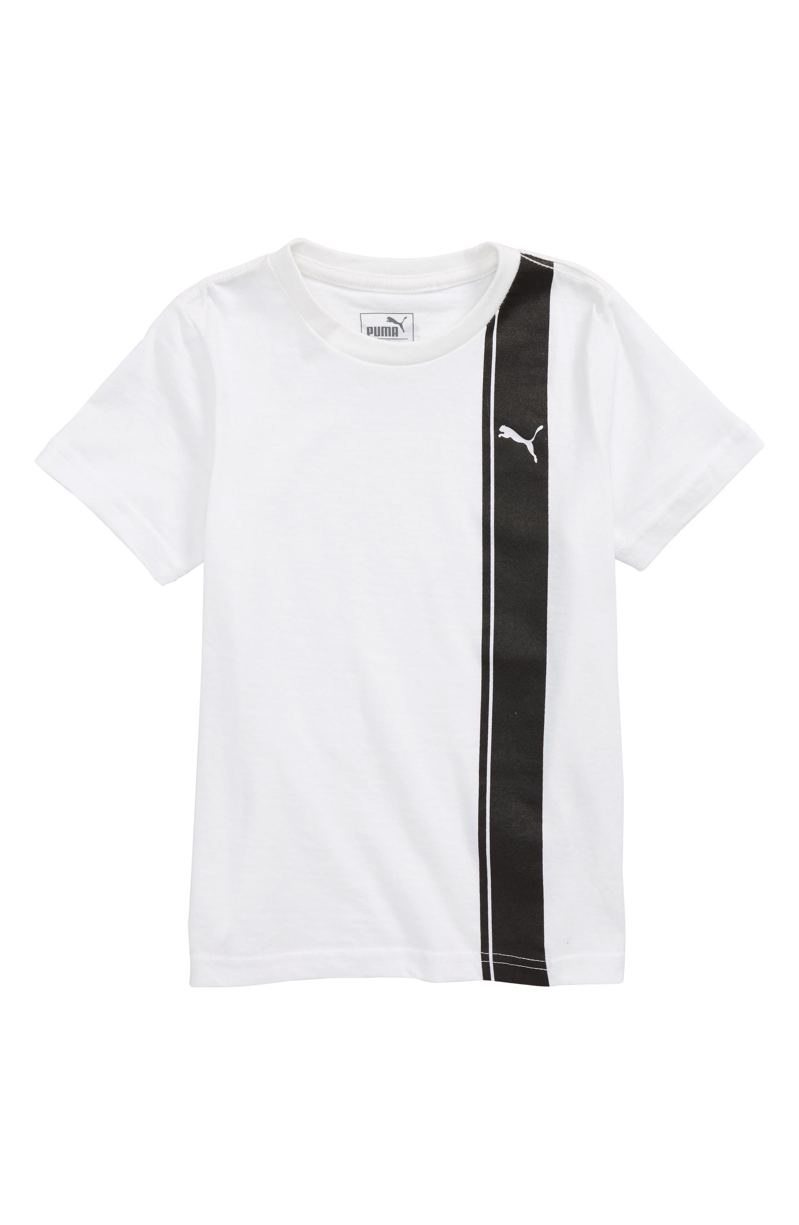 Logo T-Shirt,                         Main,                         color, Puma White