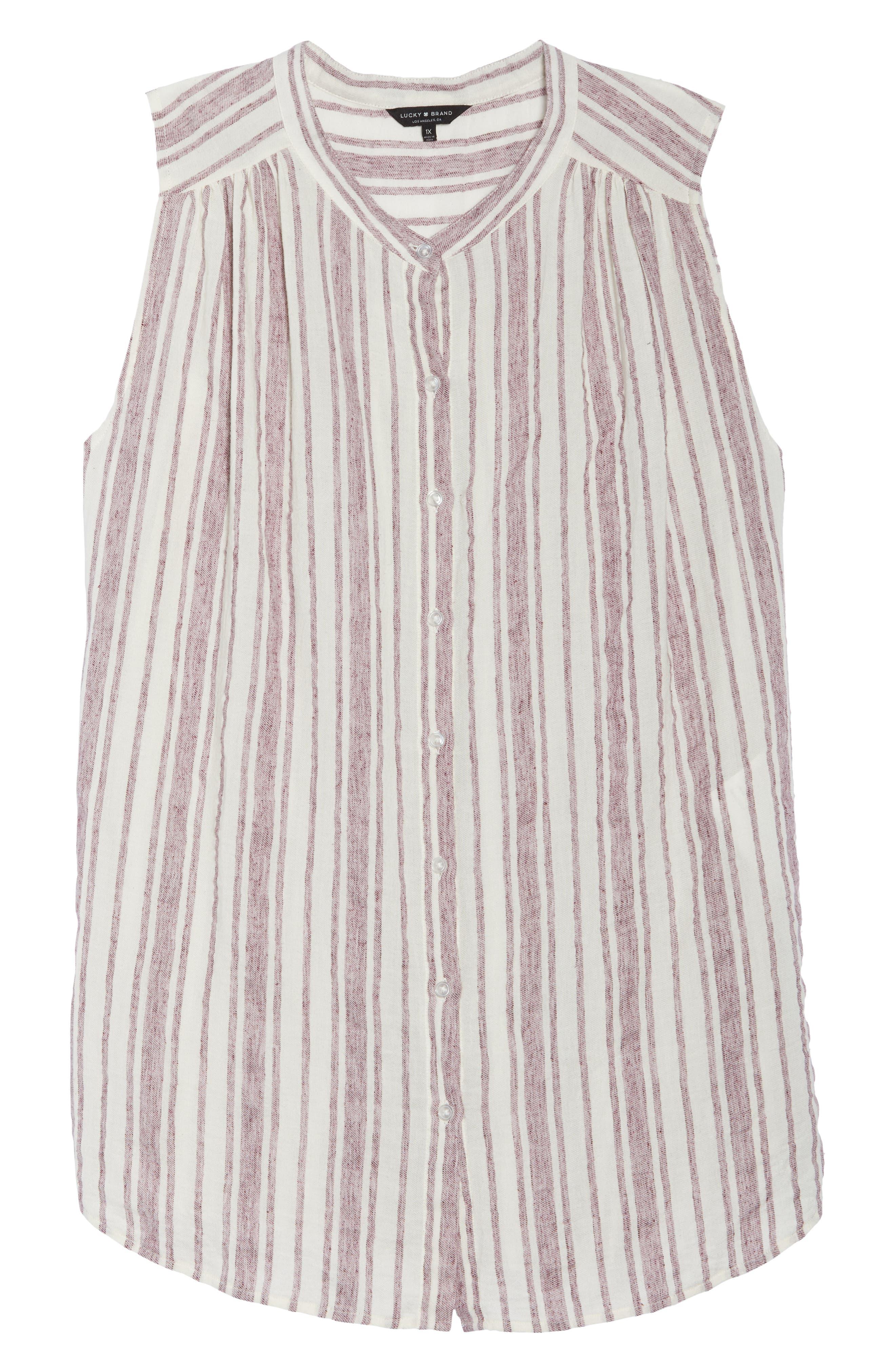 Stripe Tunic,                             Alternate thumbnail 7, color,                             Raspberry Multi