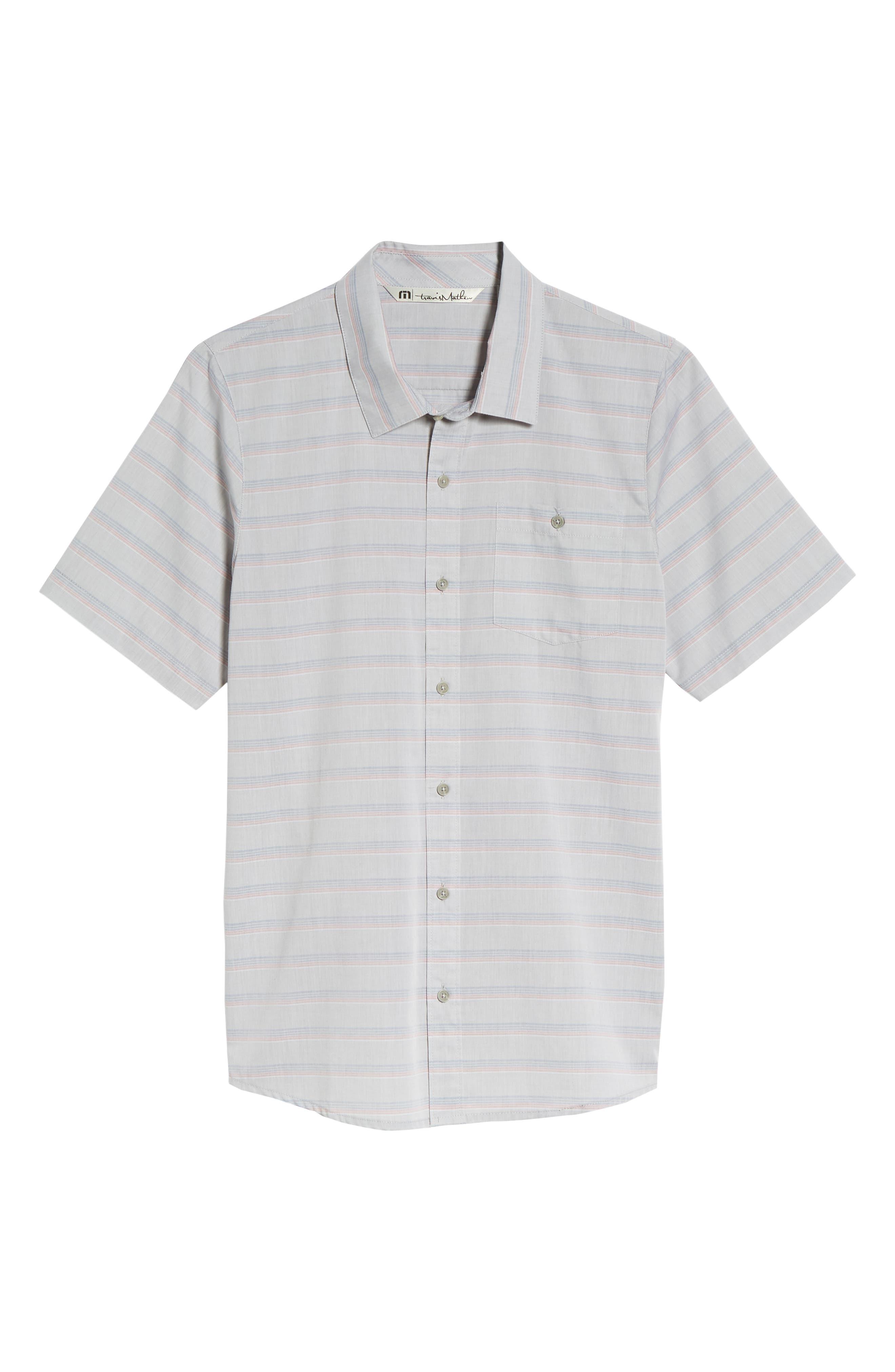 Comet Regular Fit Short Sleeve Sport Shirt,                             Alternate thumbnail 6, color,                             Heather Sharkskin