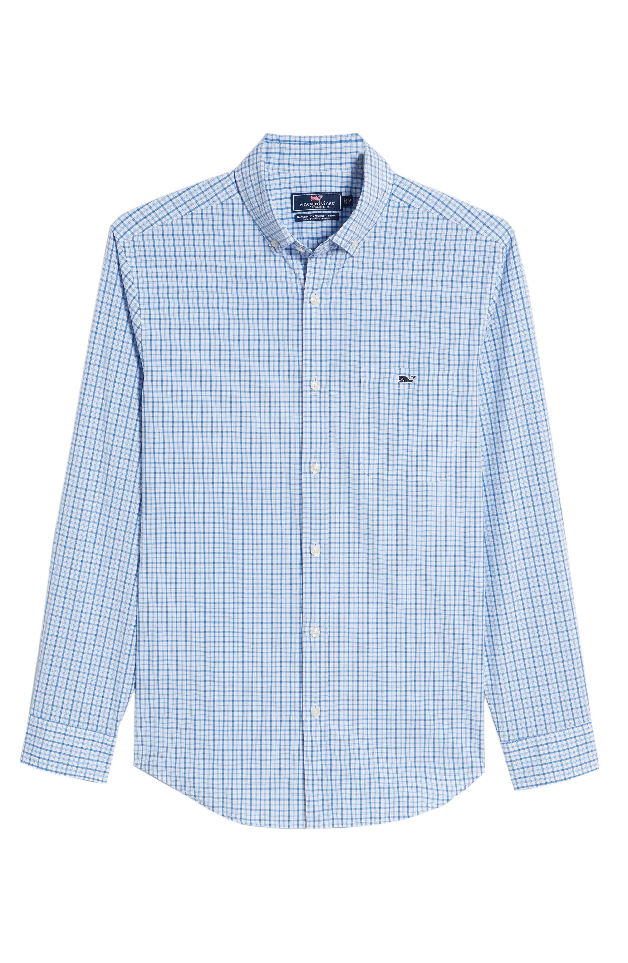 Clark Cove Tucker Classic Fit Check Sport Shirt,                             Alternate thumbnail 6, color,                             Jake Blue