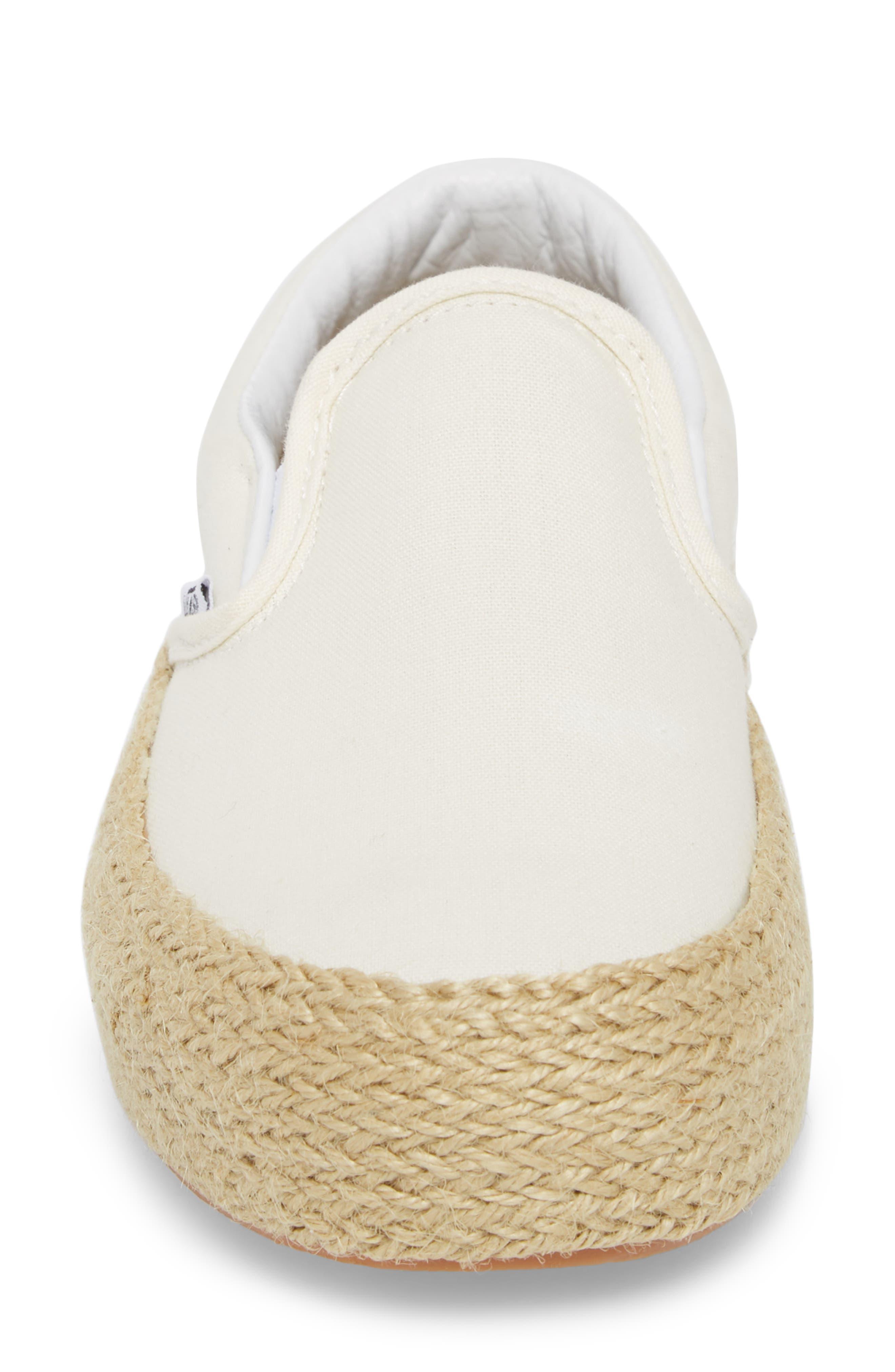 Platform Slip-On Sneaker,                             Alternate thumbnail 4, color,                             Marshmallow