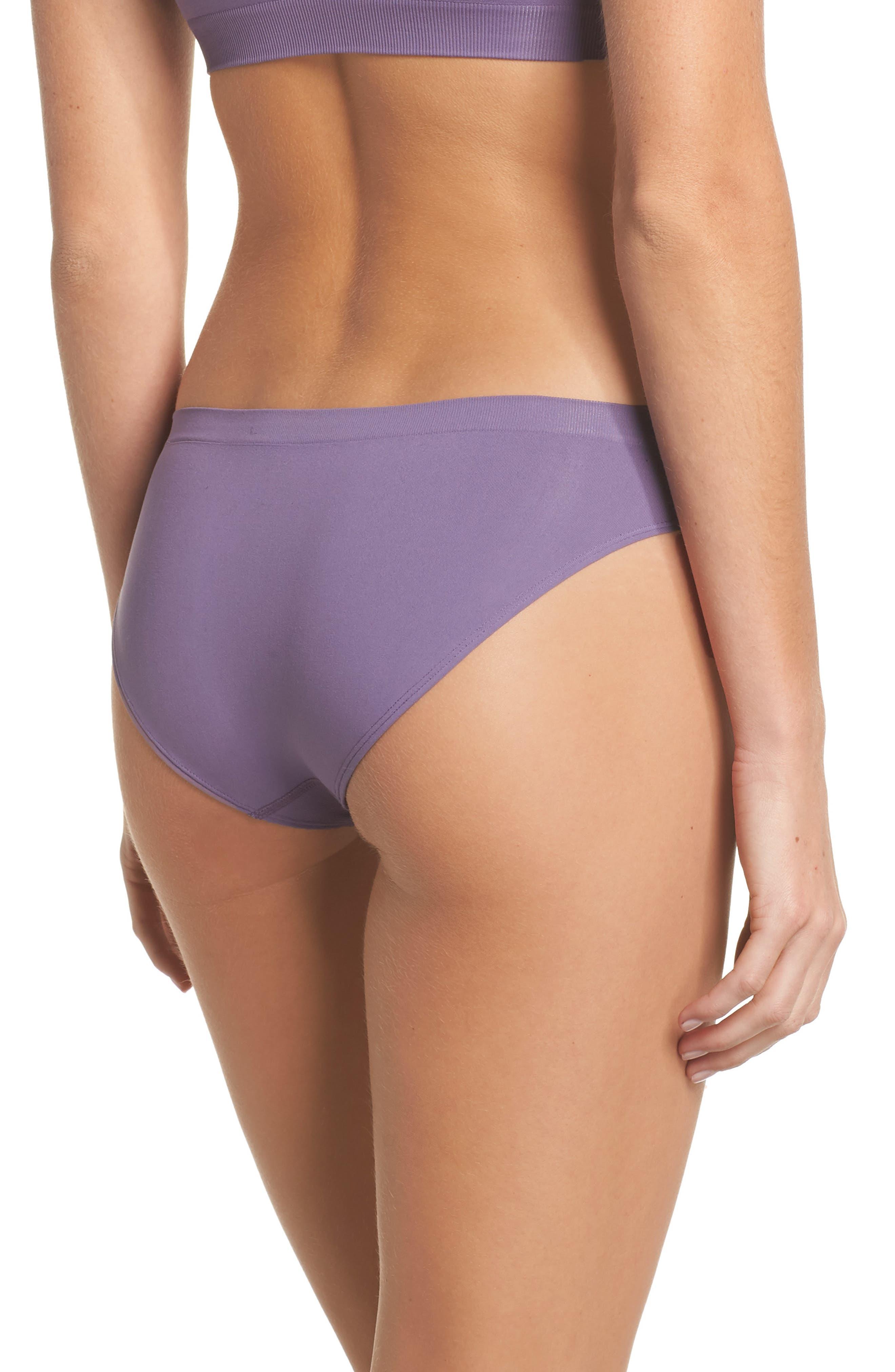 Seamless Bikini,                             Alternate thumbnail 2, color,                             Purple Mulled
