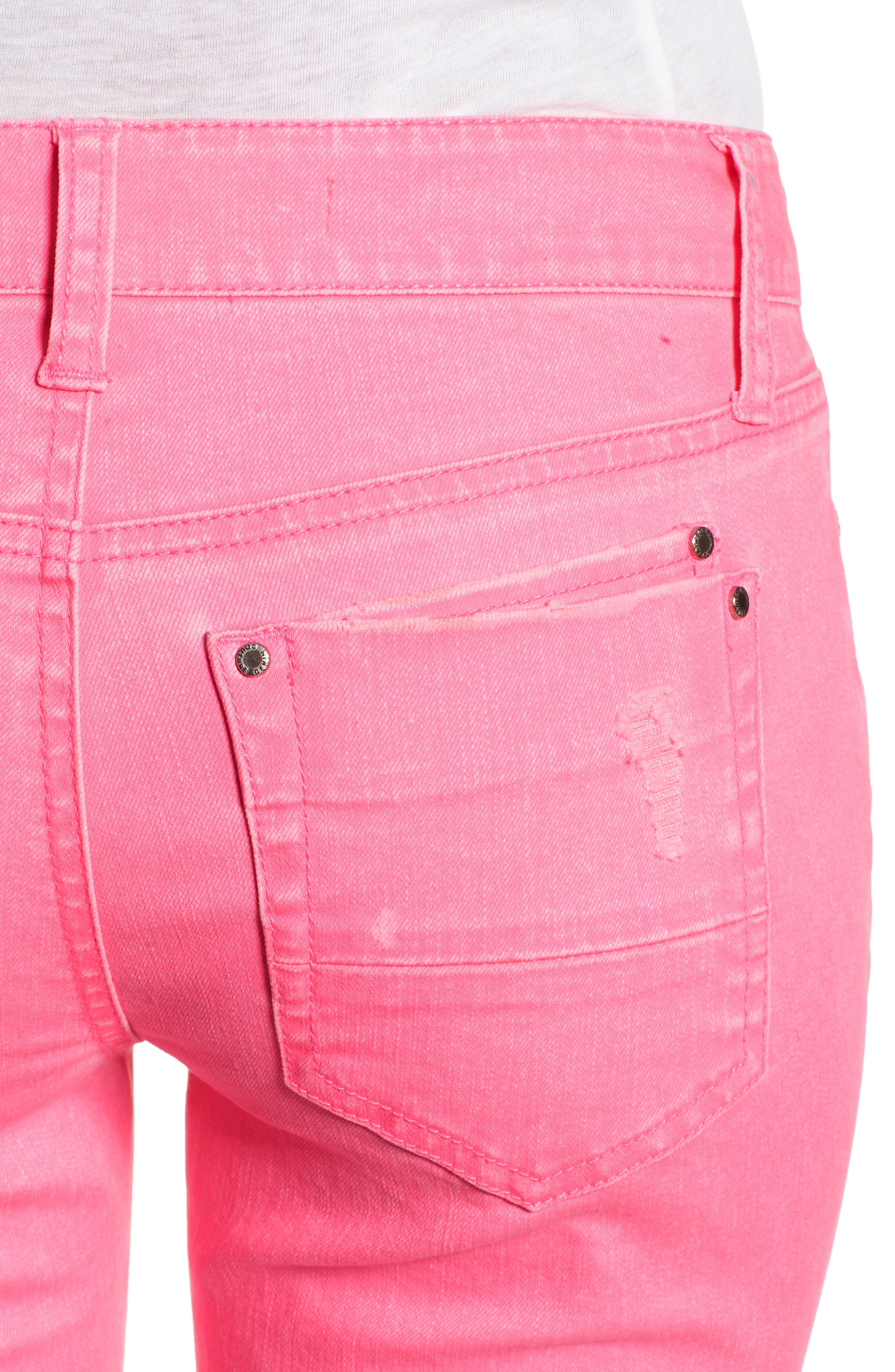Alternate Image 4  - Tinsel Distressed Roll Cuff Skinny Jeans