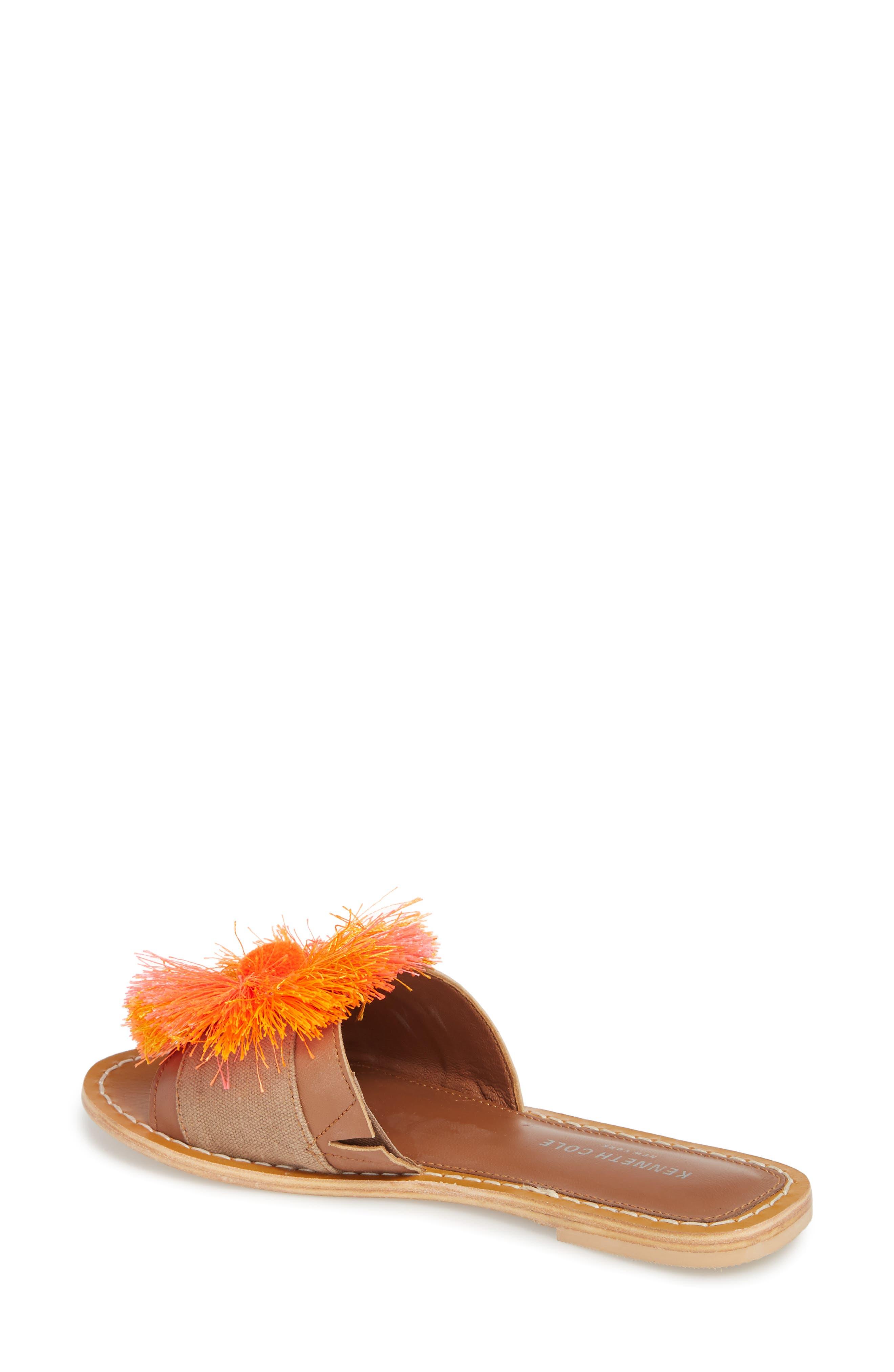 Orton Slide Sandal,                             Alternate thumbnail 2, color,                             Orange Multi Fabric