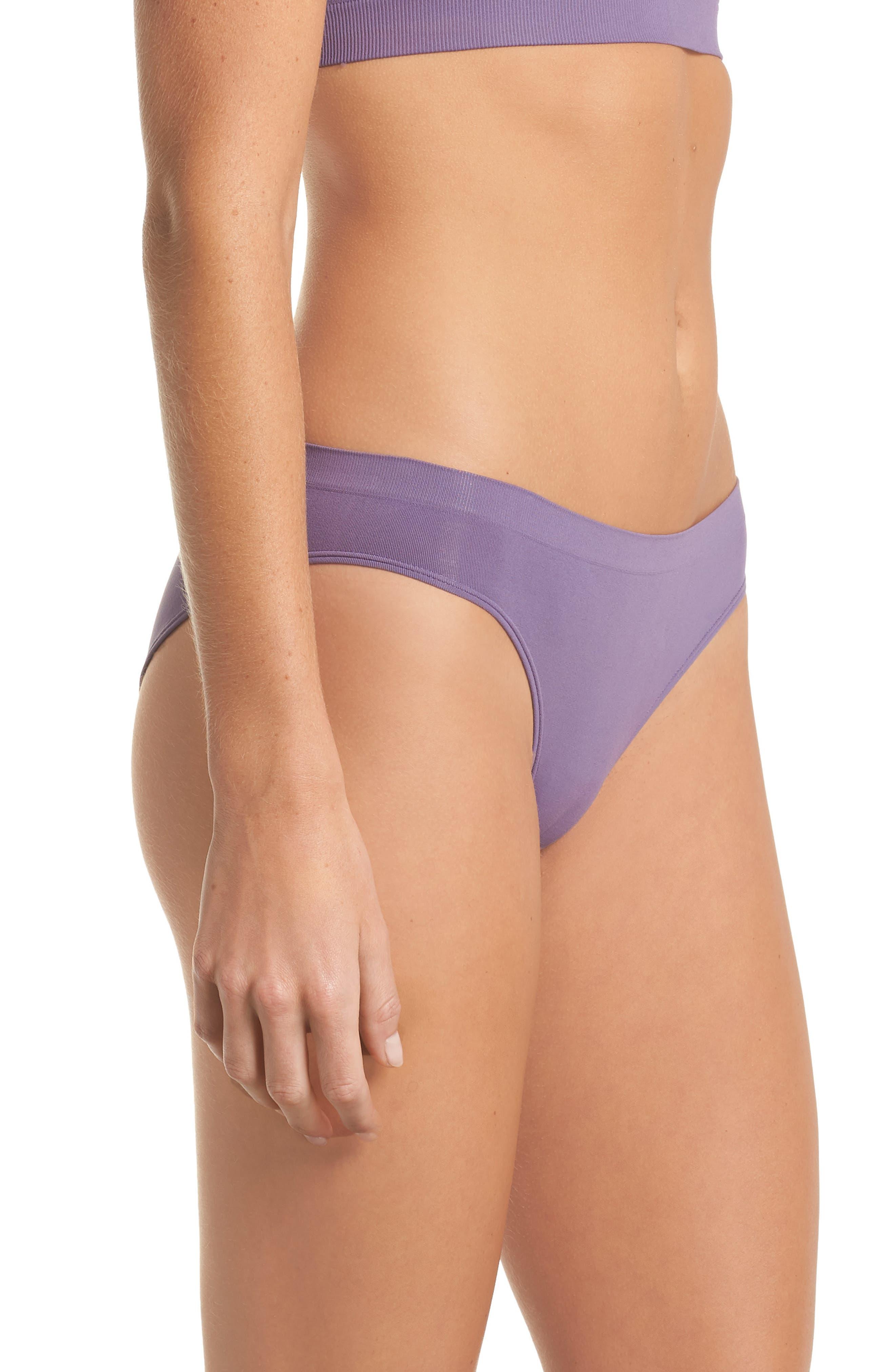 Seamless Bikini,                             Alternate thumbnail 3, color,                             Purple Mulled