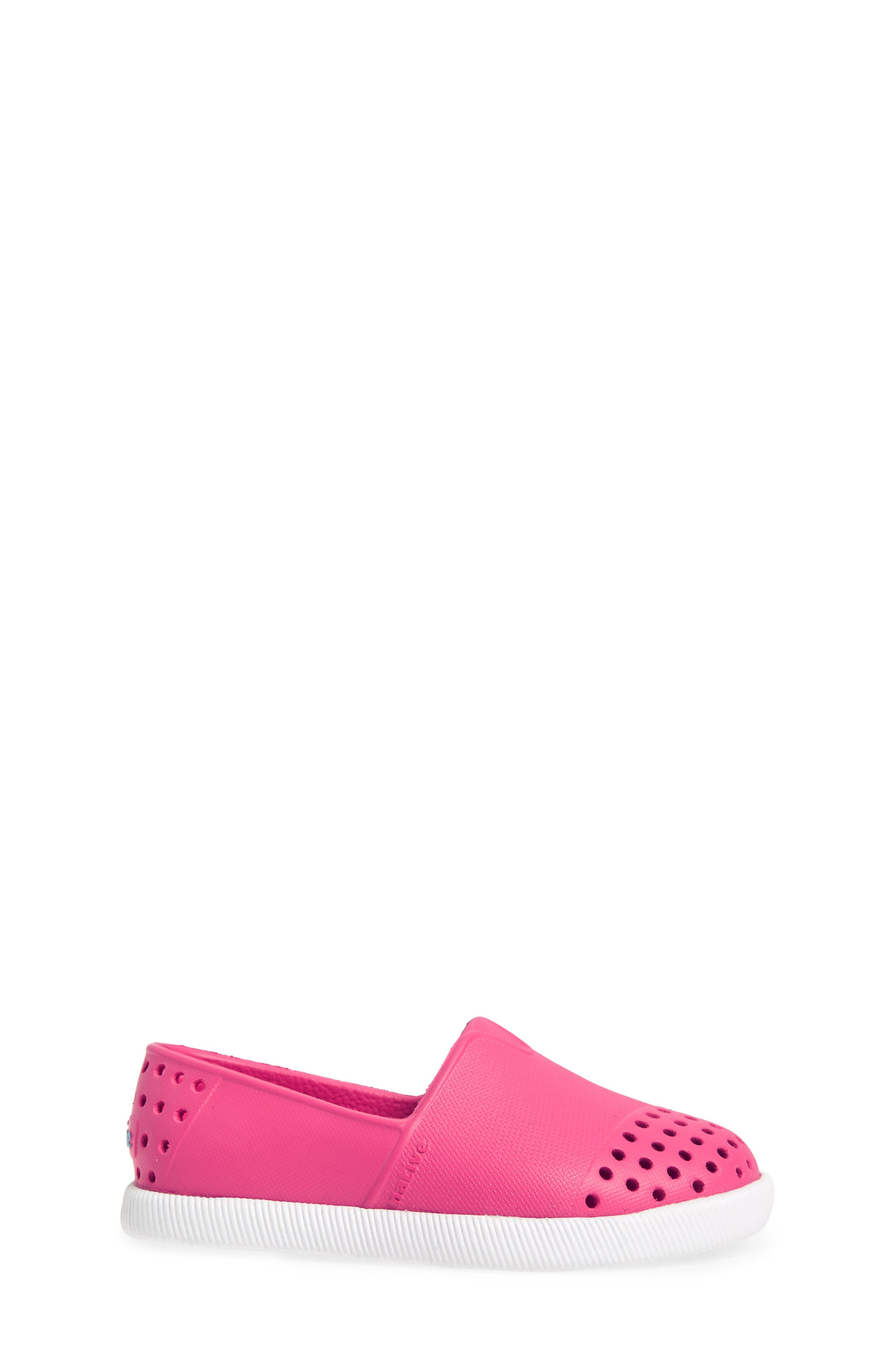 Verona Perforated Water Friendly Slip-On,                             Alternate thumbnail 3, color,                             Hollywood Pink/ Shell White