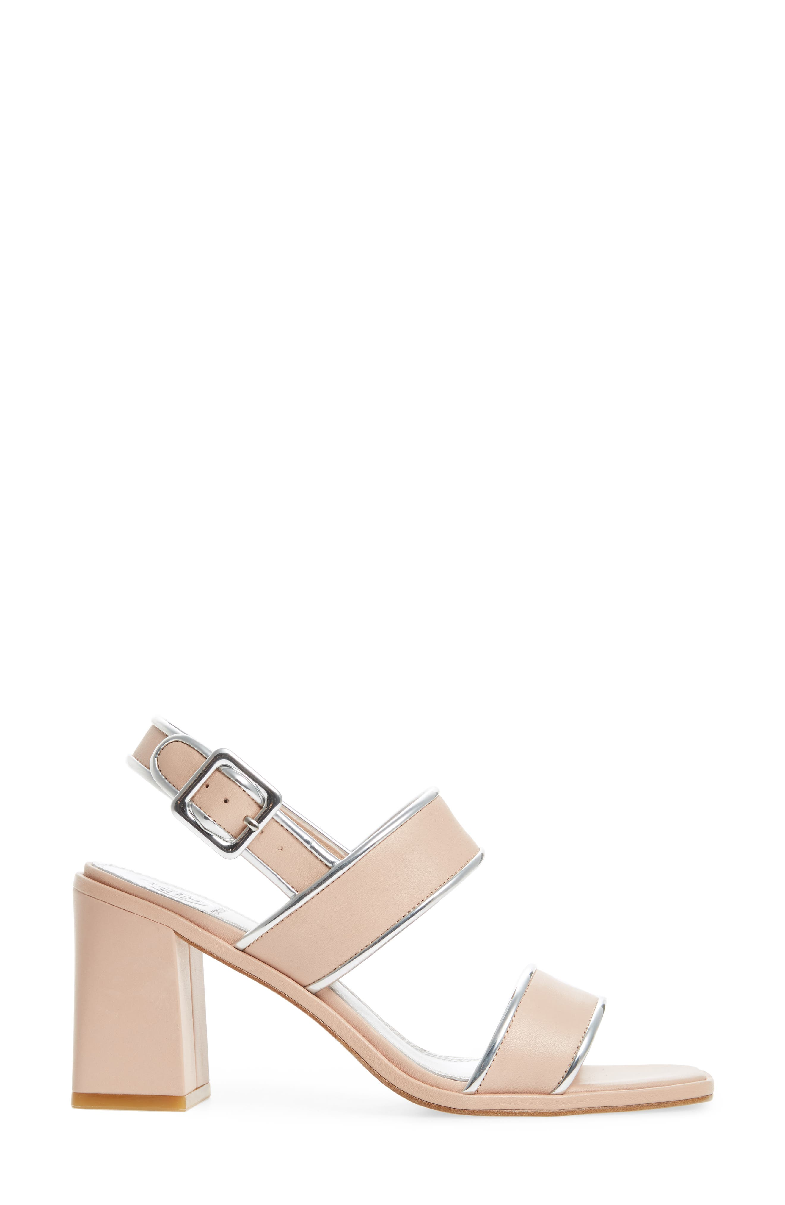 Delaney Double Strap Sandal,                             Alternate thumbnail 3, color,                             Goan Sand/ Silver