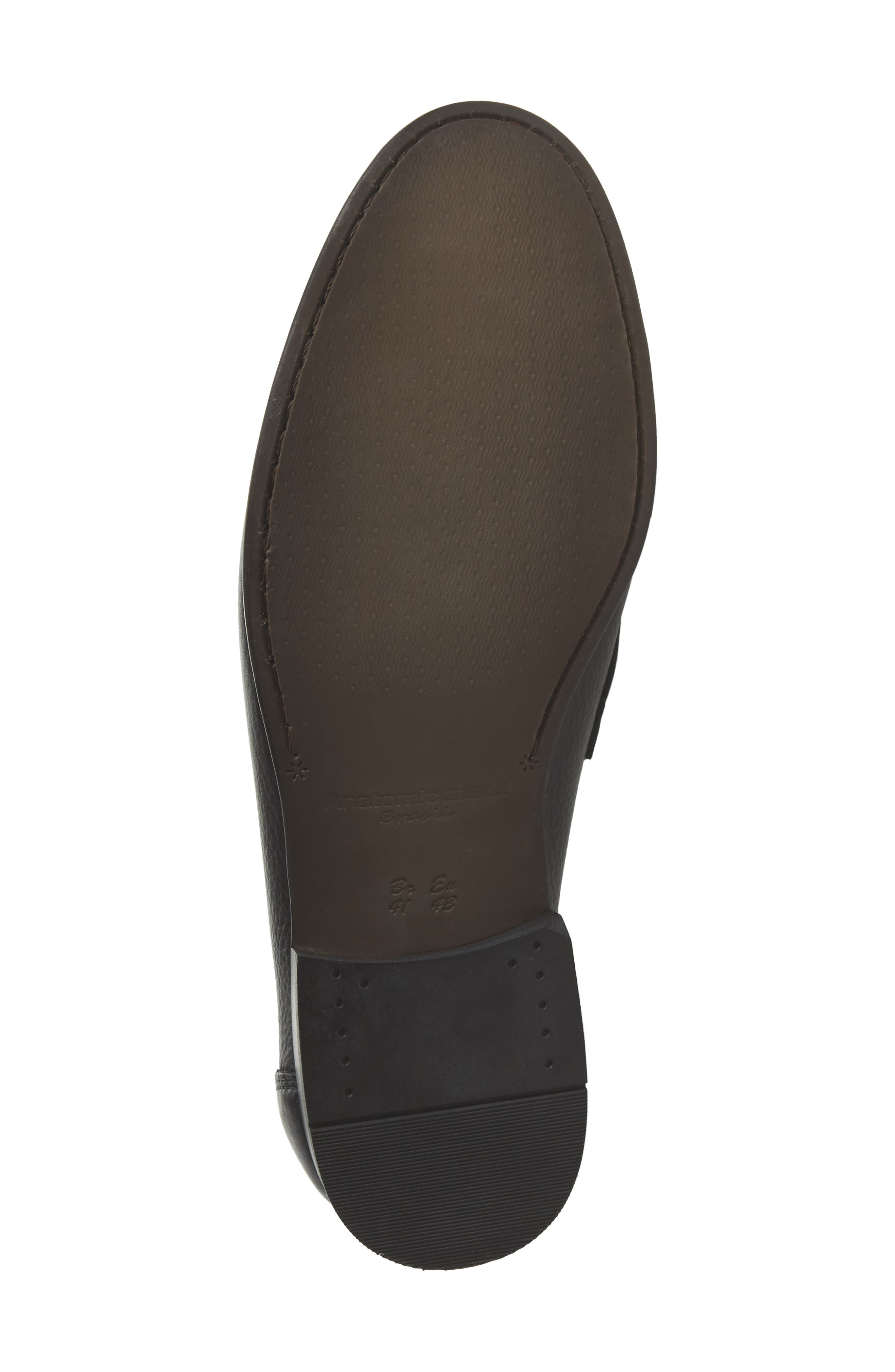 Eric Moc Toe Slip-On Loafer,                             Alternate thumbnail 6, color,                             Floater Black Leather