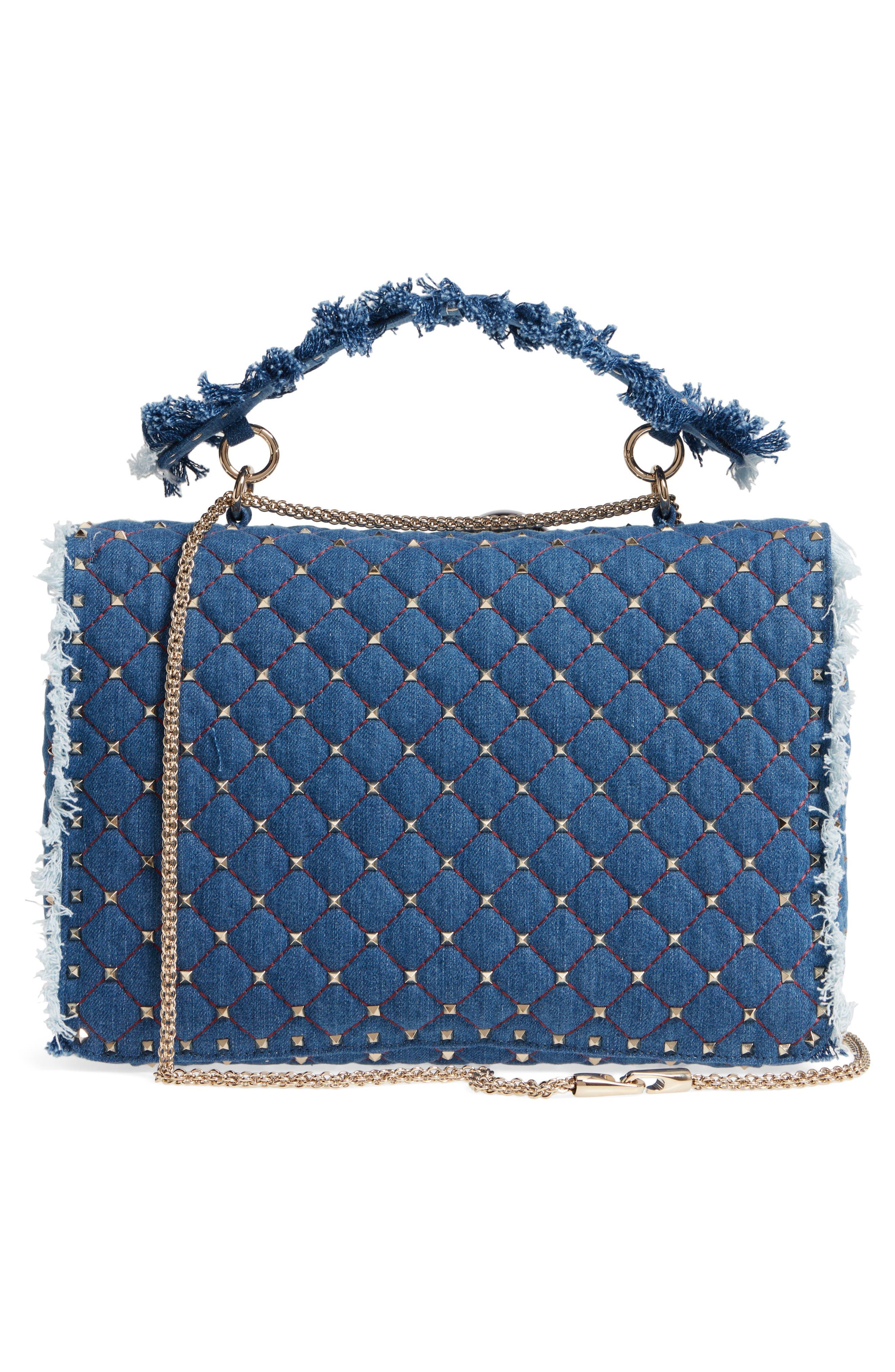 Alternate Image 3  - VALENTINO GARAVANI Maxi Rockstud Spike Denim Shoulder Bag