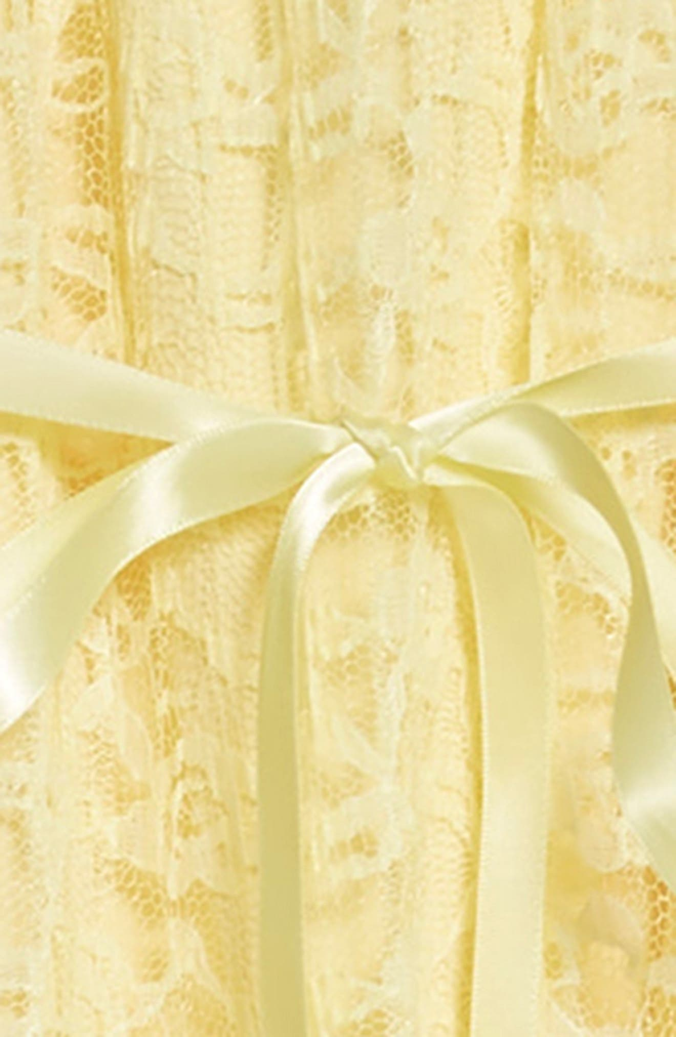 Lace Cold Shoulder Maxi Dress,                             Alternate thumbnail 3, color,                             Yellow