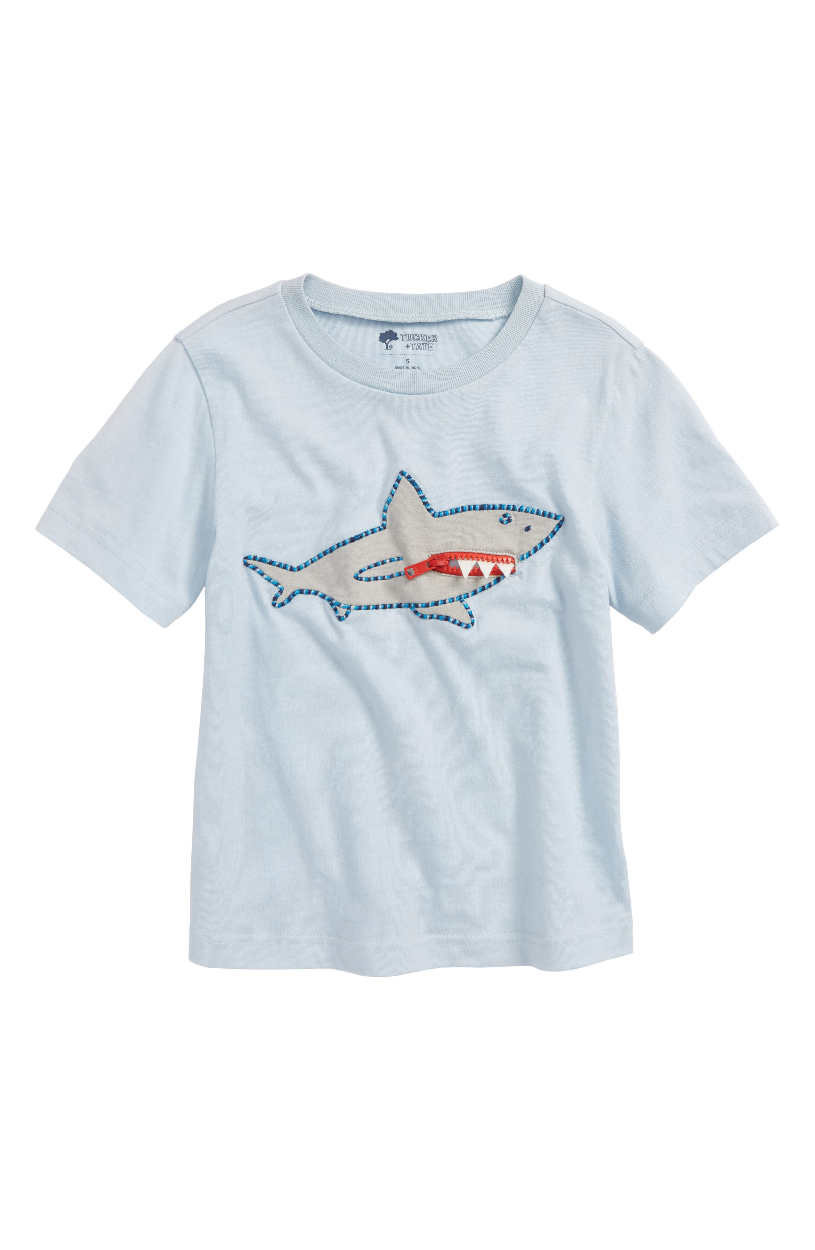 3D Graphic T-Shirt,                         Main,                         color, Blue Fog Shark
