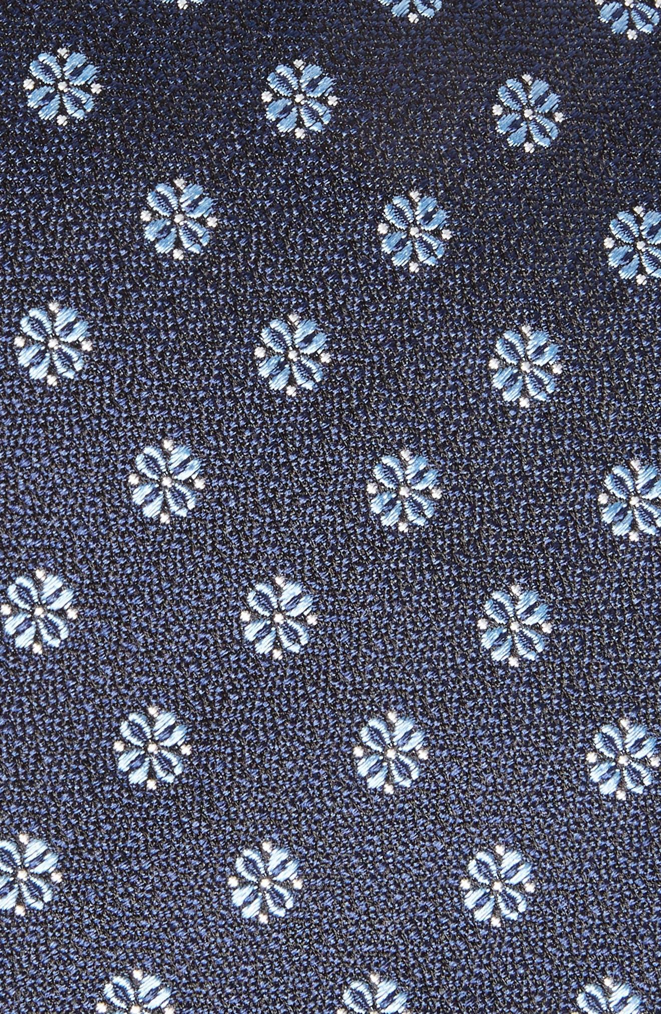 Floral Silk Tie,                             Alternate thumbnail 2, color,                             Blue