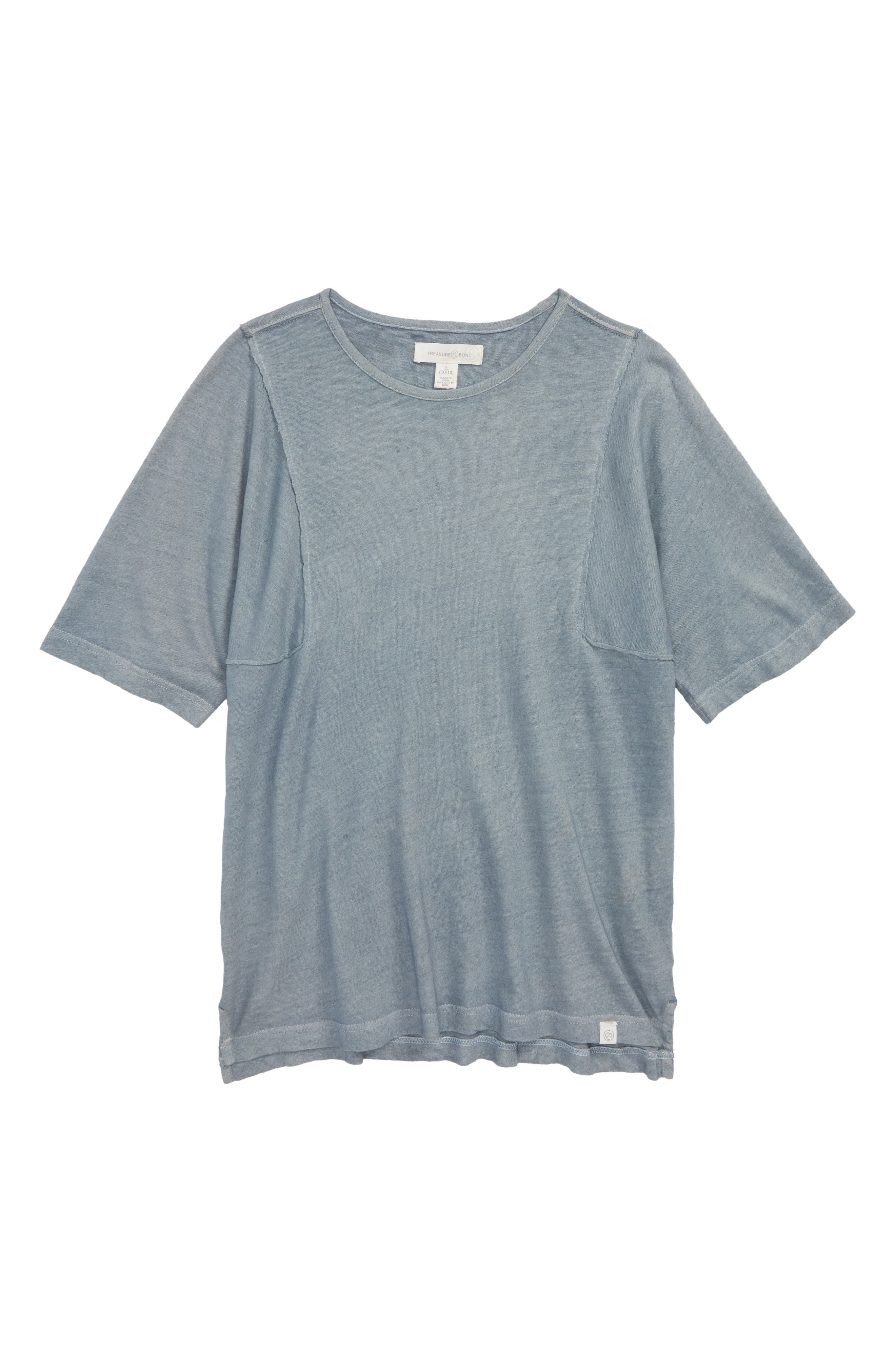 Frayed Edge T-Shirt,                             Main thumbnail 1, color,                             Blue Tradewinds