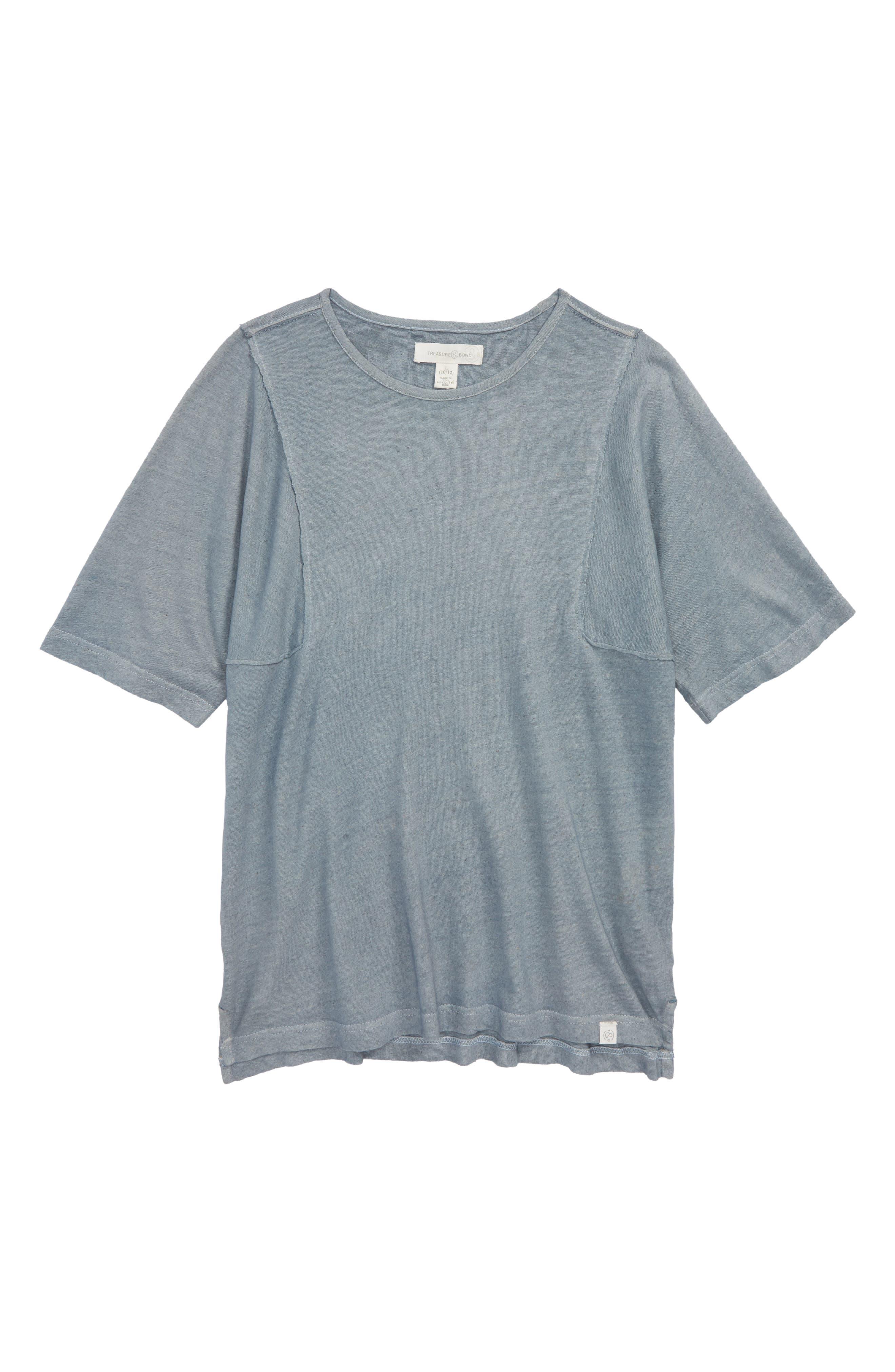 Frayed Edge T-Shirt,                         Main,                         color, Blue Tradewinds
