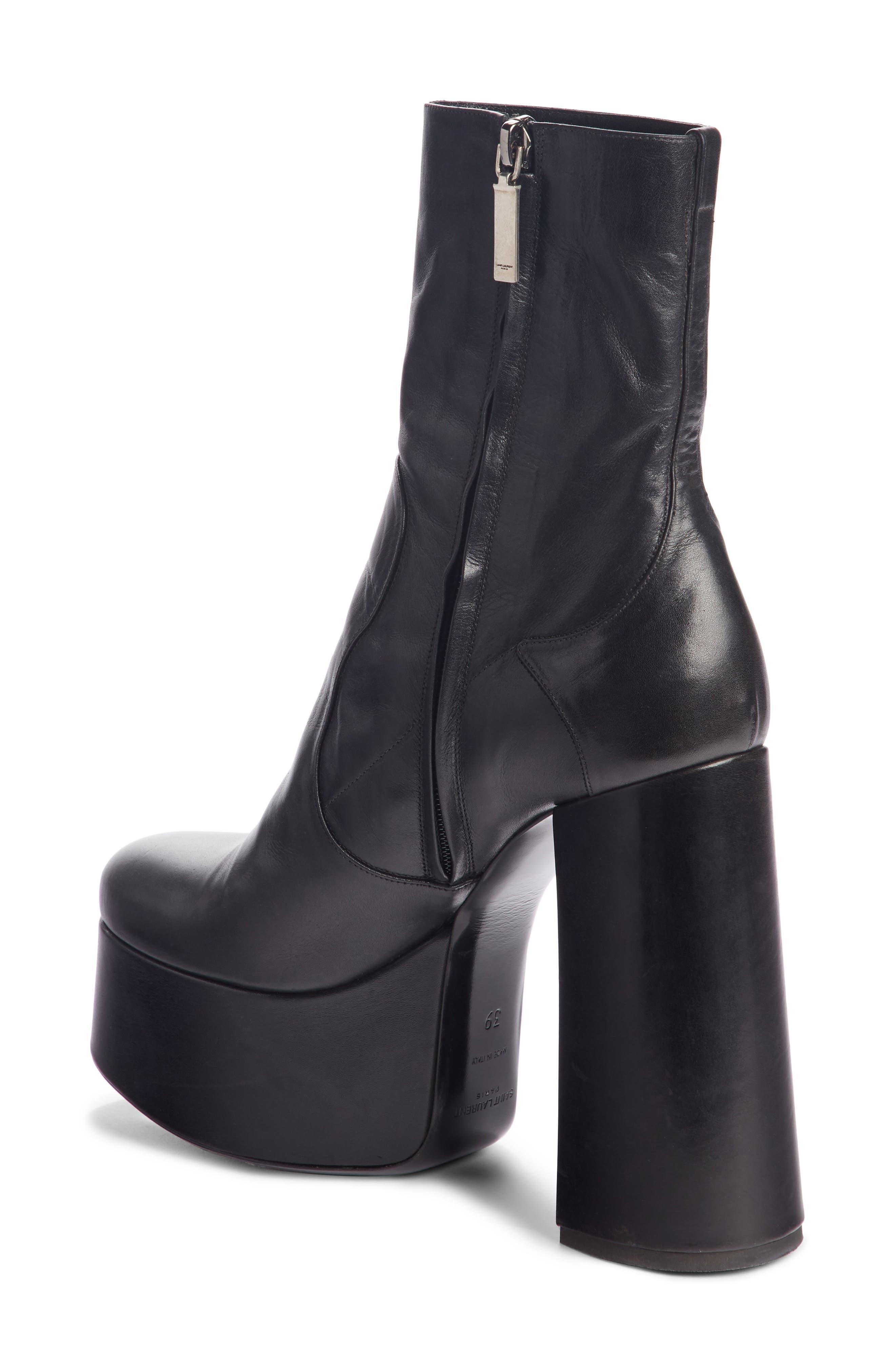 Saint Laurent Women's Billy Kangaroo Leather Platform Boot MsFLRD